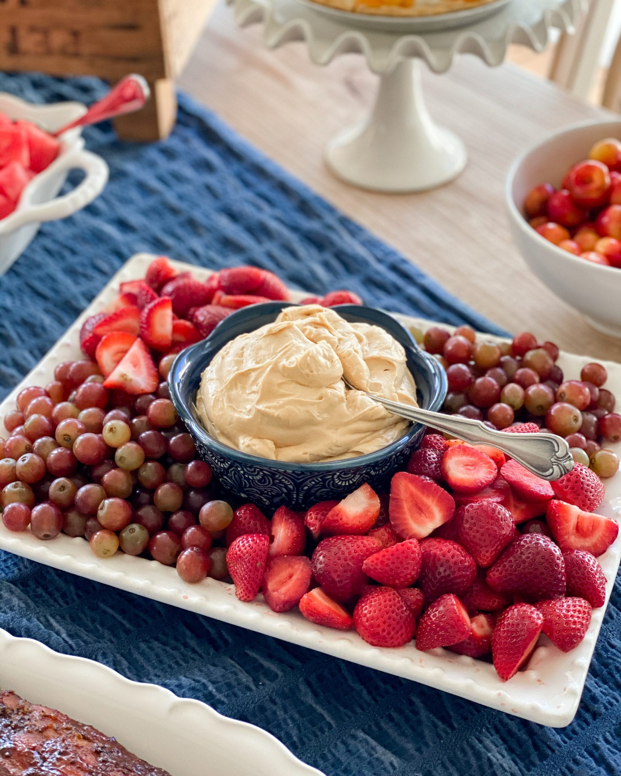 caramel cream cheese fruit dip recipe