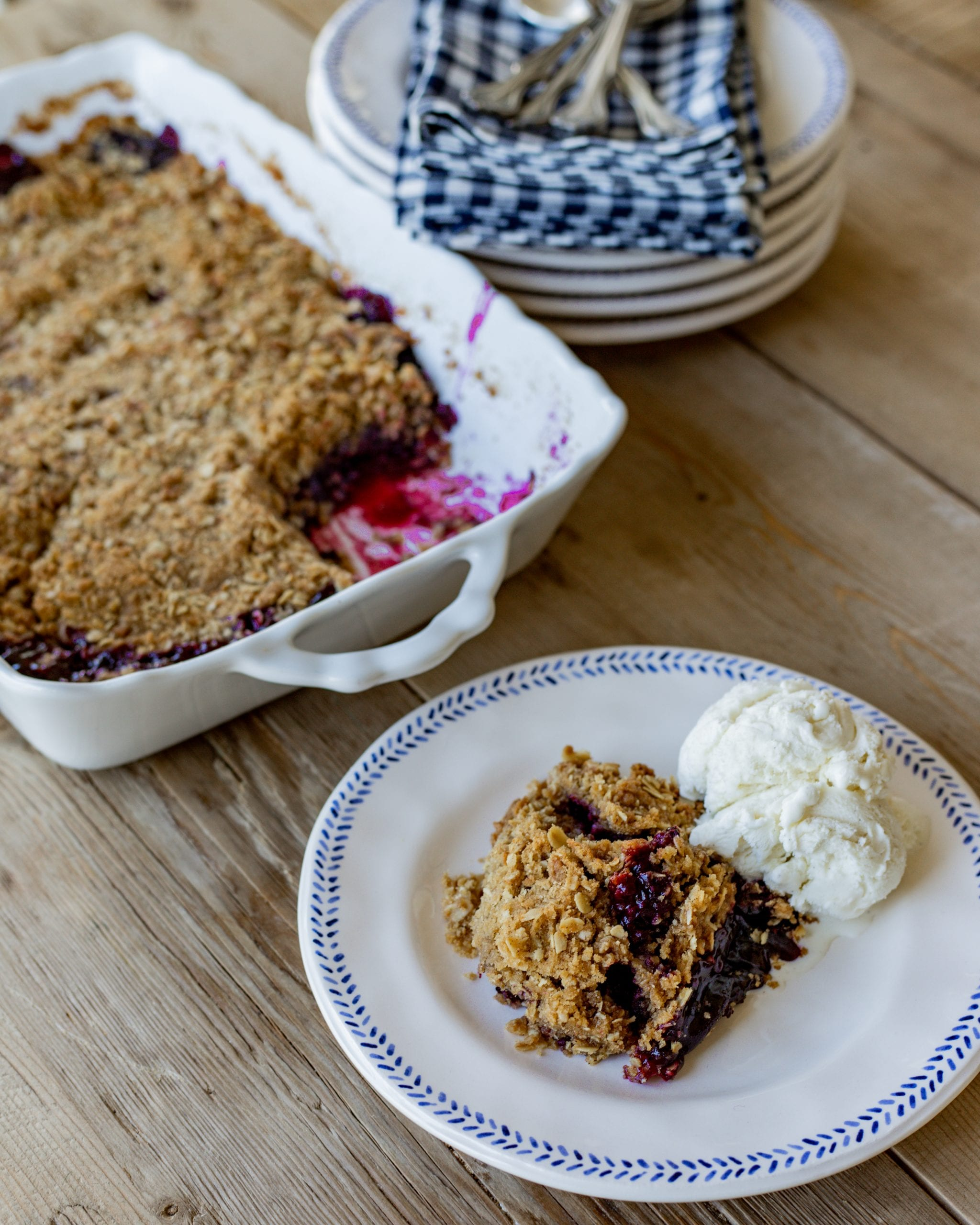 favorite blackberry crumble recipe