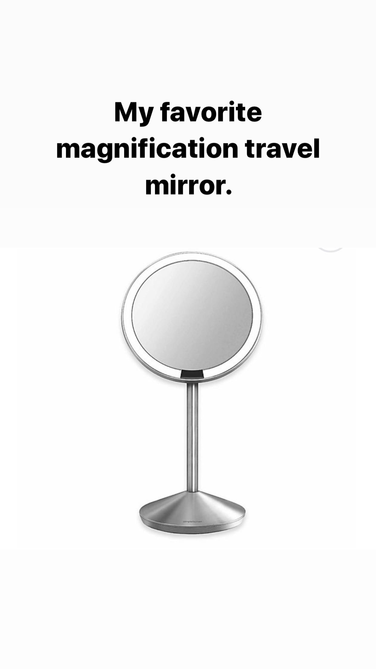 travel mirror