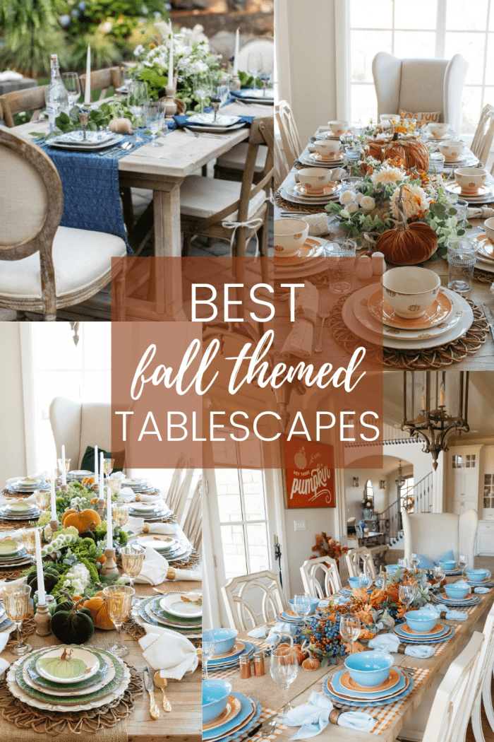 10 Fall Themed Tablescapes