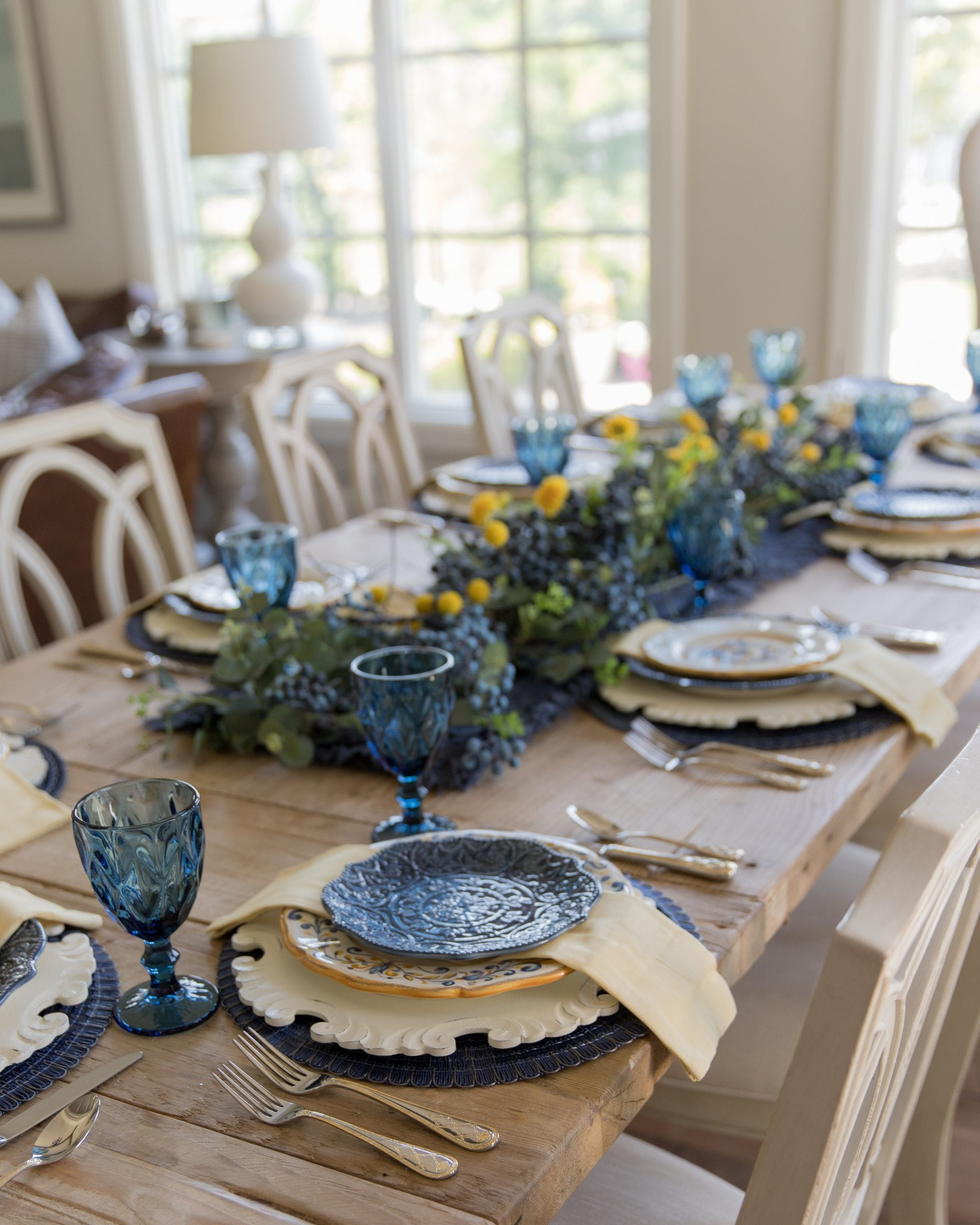 table decor garland centerpiece