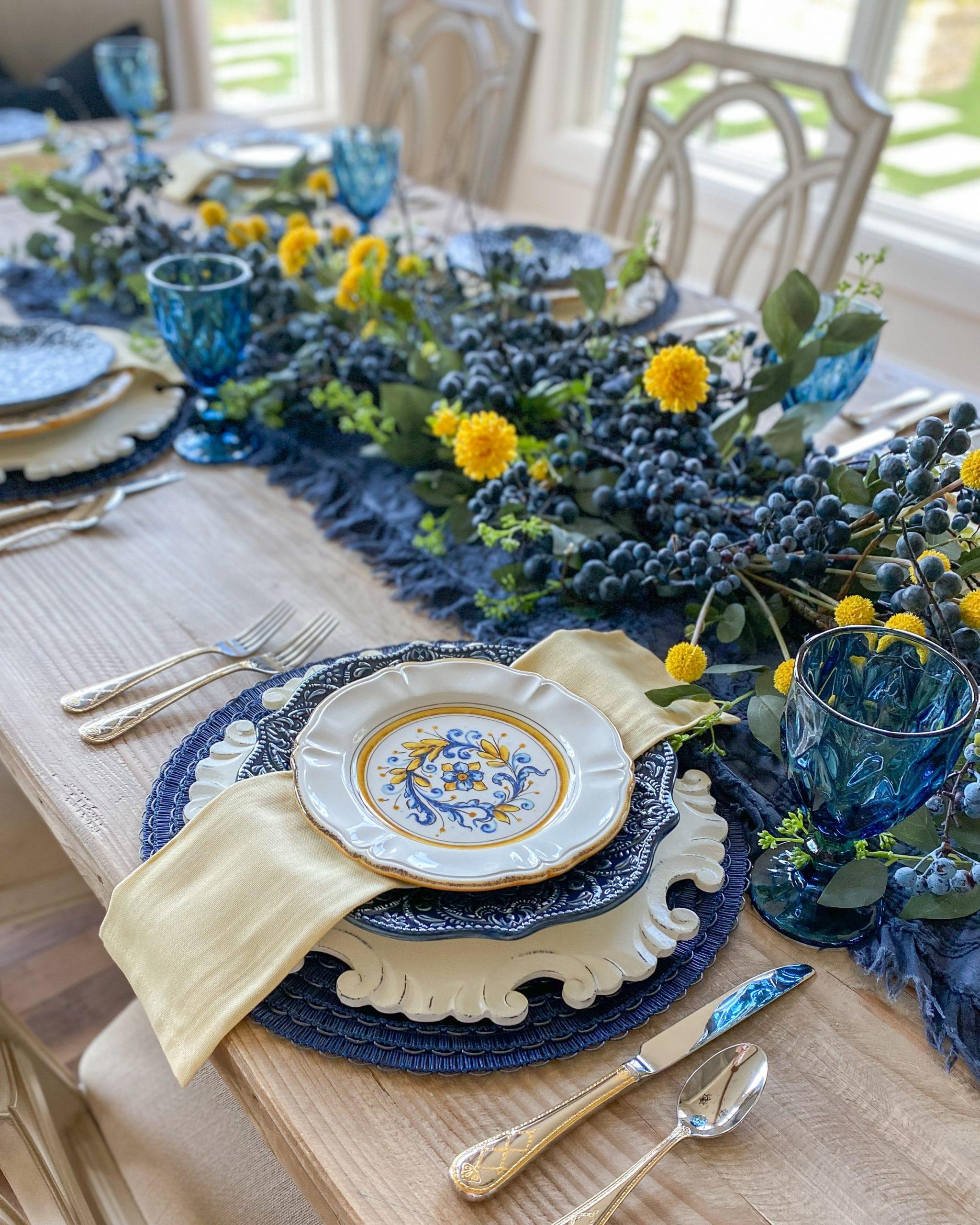 garland centerpiece table decor