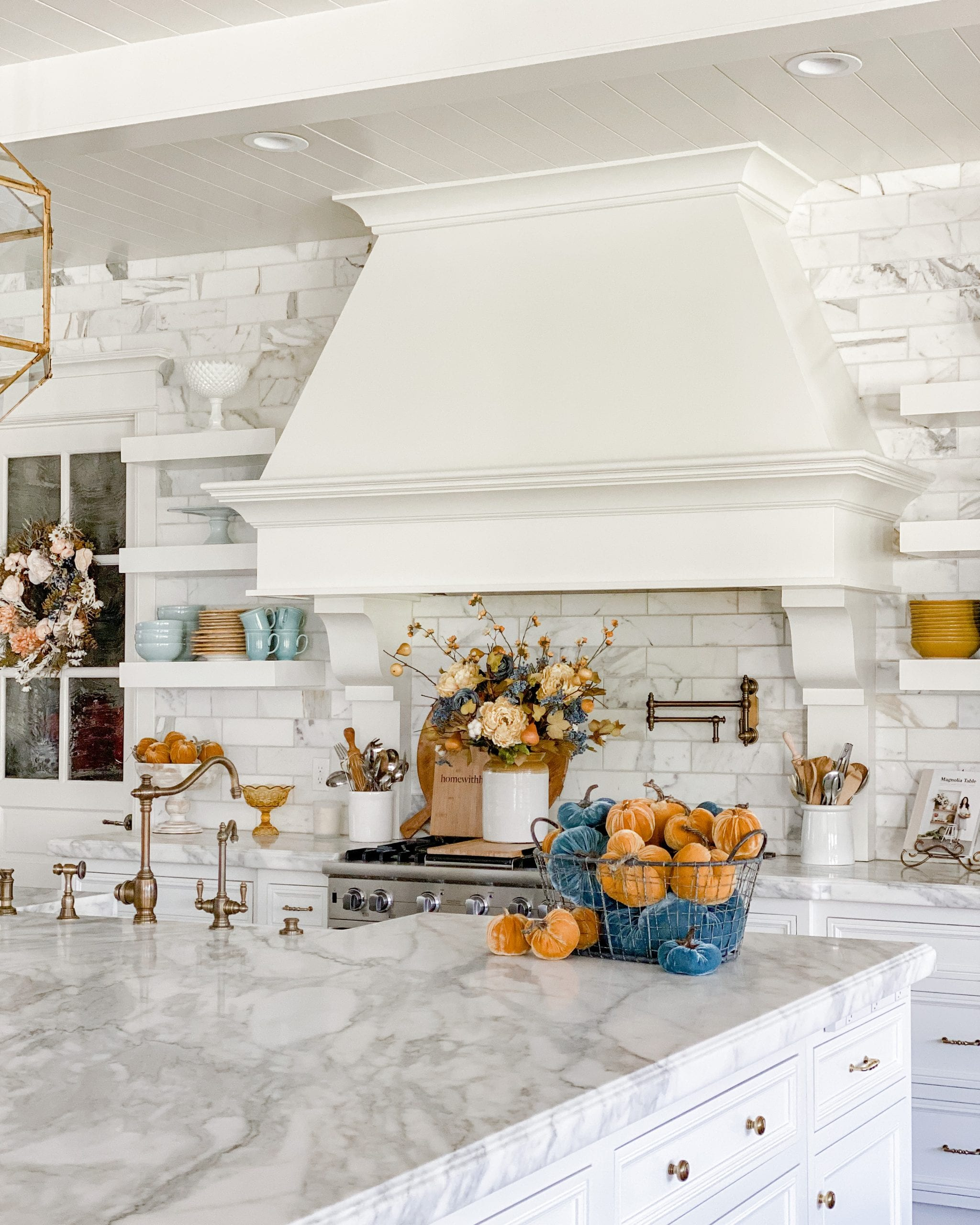 fall decor kitchen