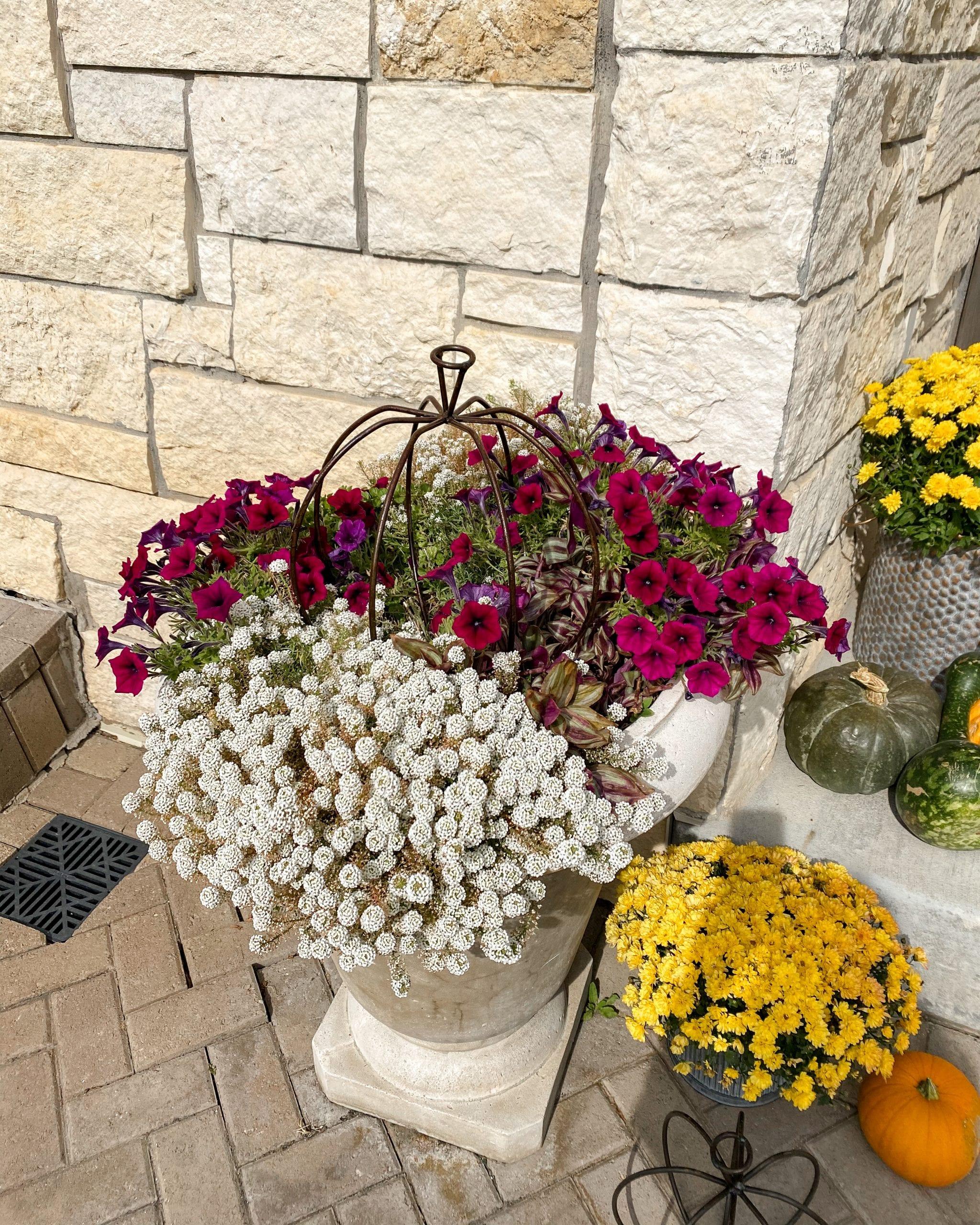 Fall porch DIY decor