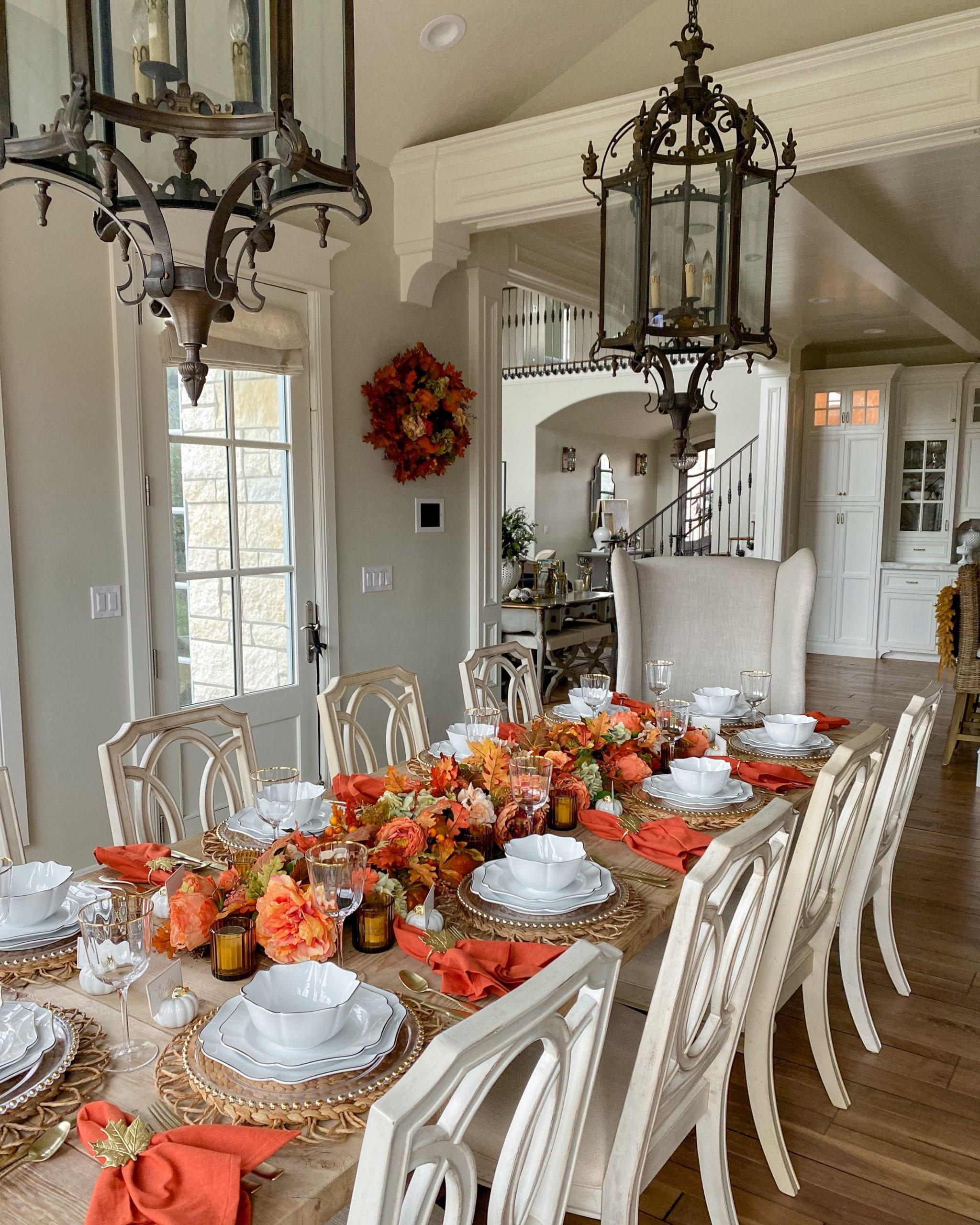 thanksgiving harvest tablescape