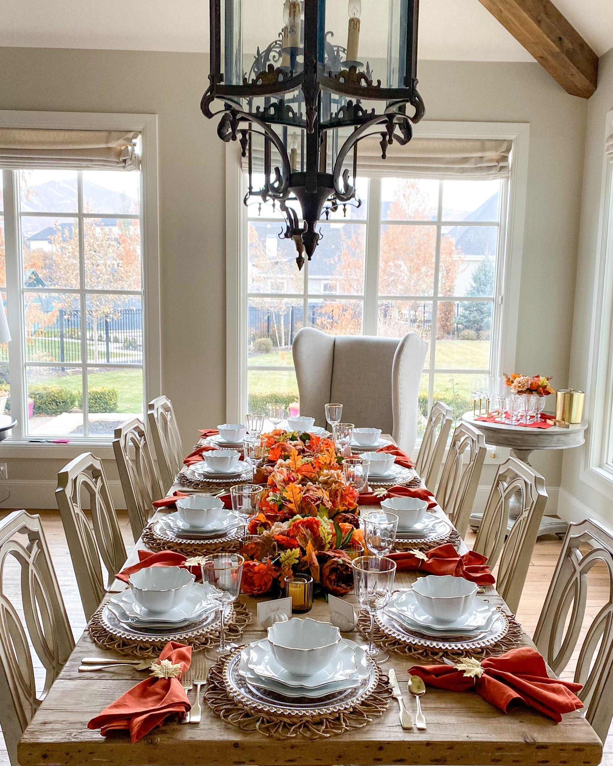 harvest tablescape Martha Stewart
