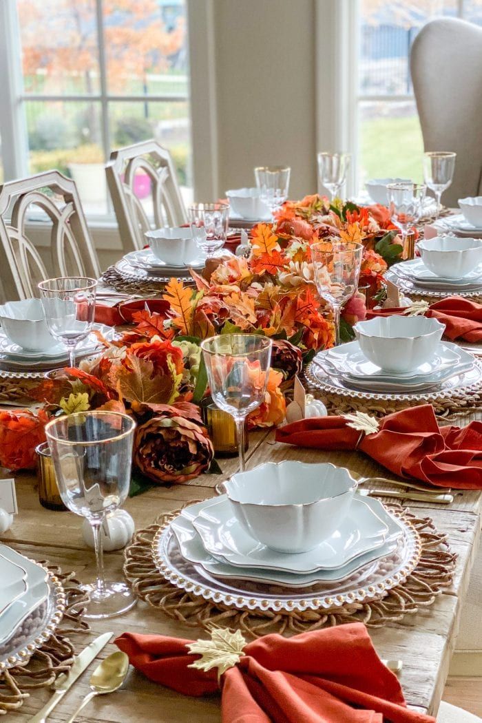 Harvest Tablescape Featuring the Martha Stewart Collection