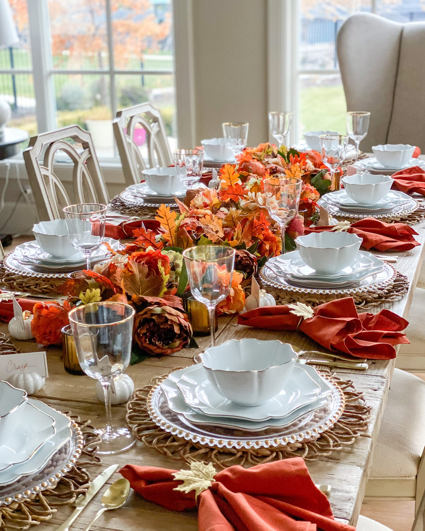 fall harvest thanksgiving tablescape