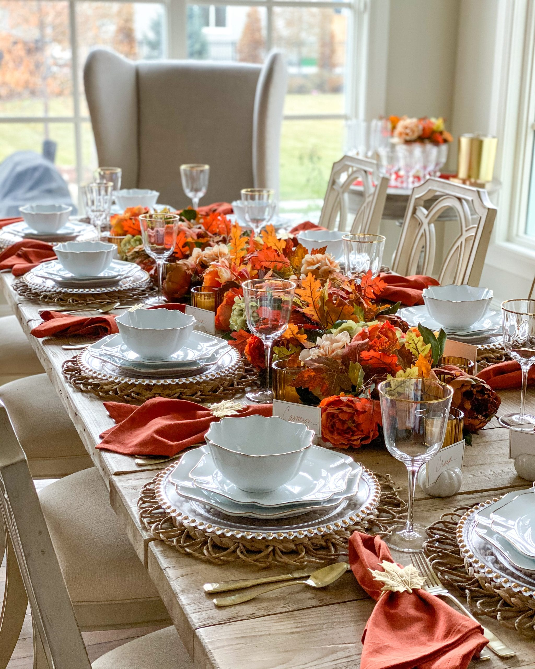 Martha Stewart collection fall harvest tablescape