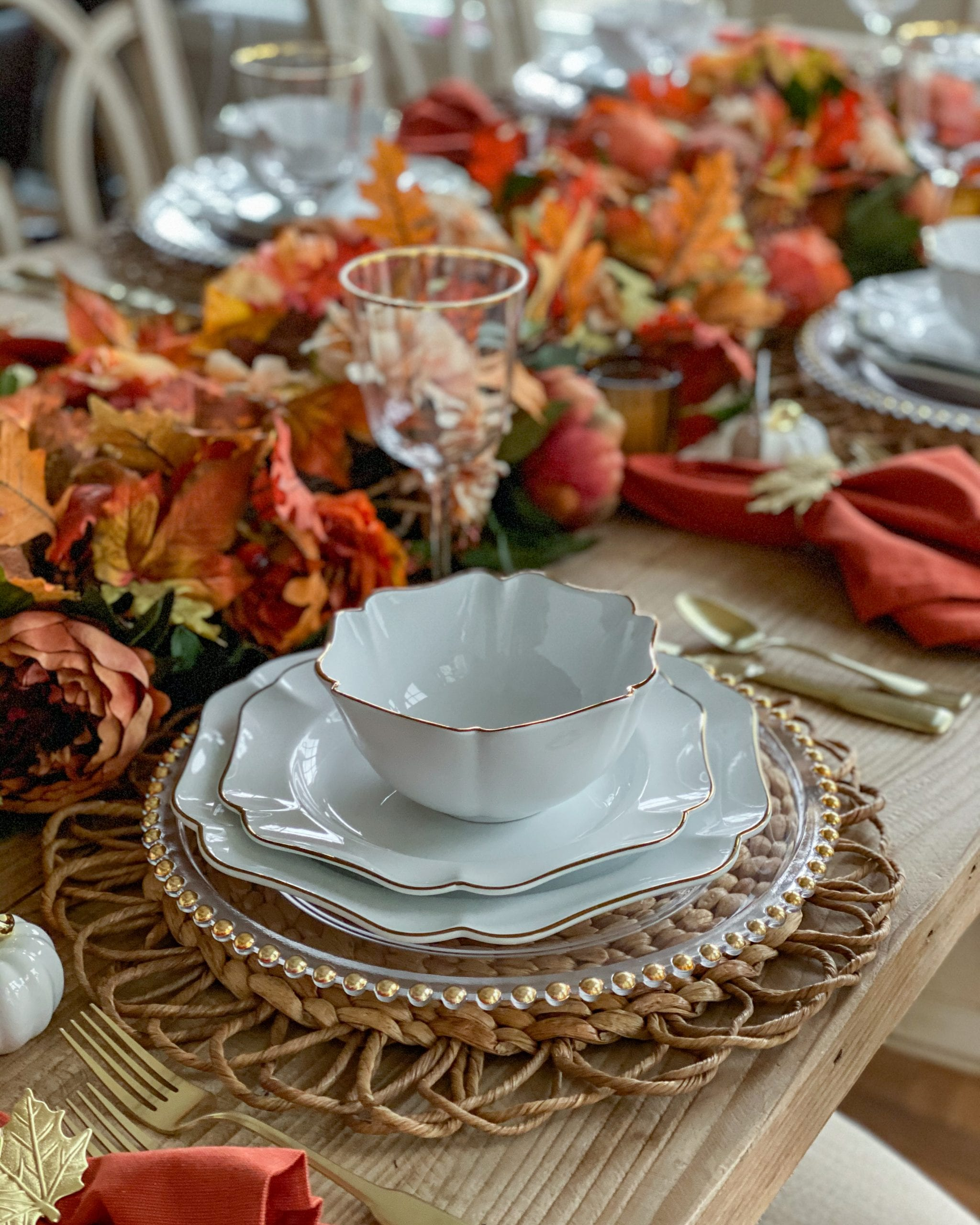 fall placestting ideas