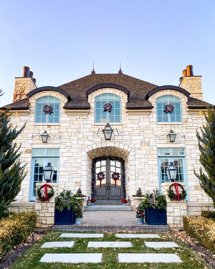 Christmas front porch decor ideas