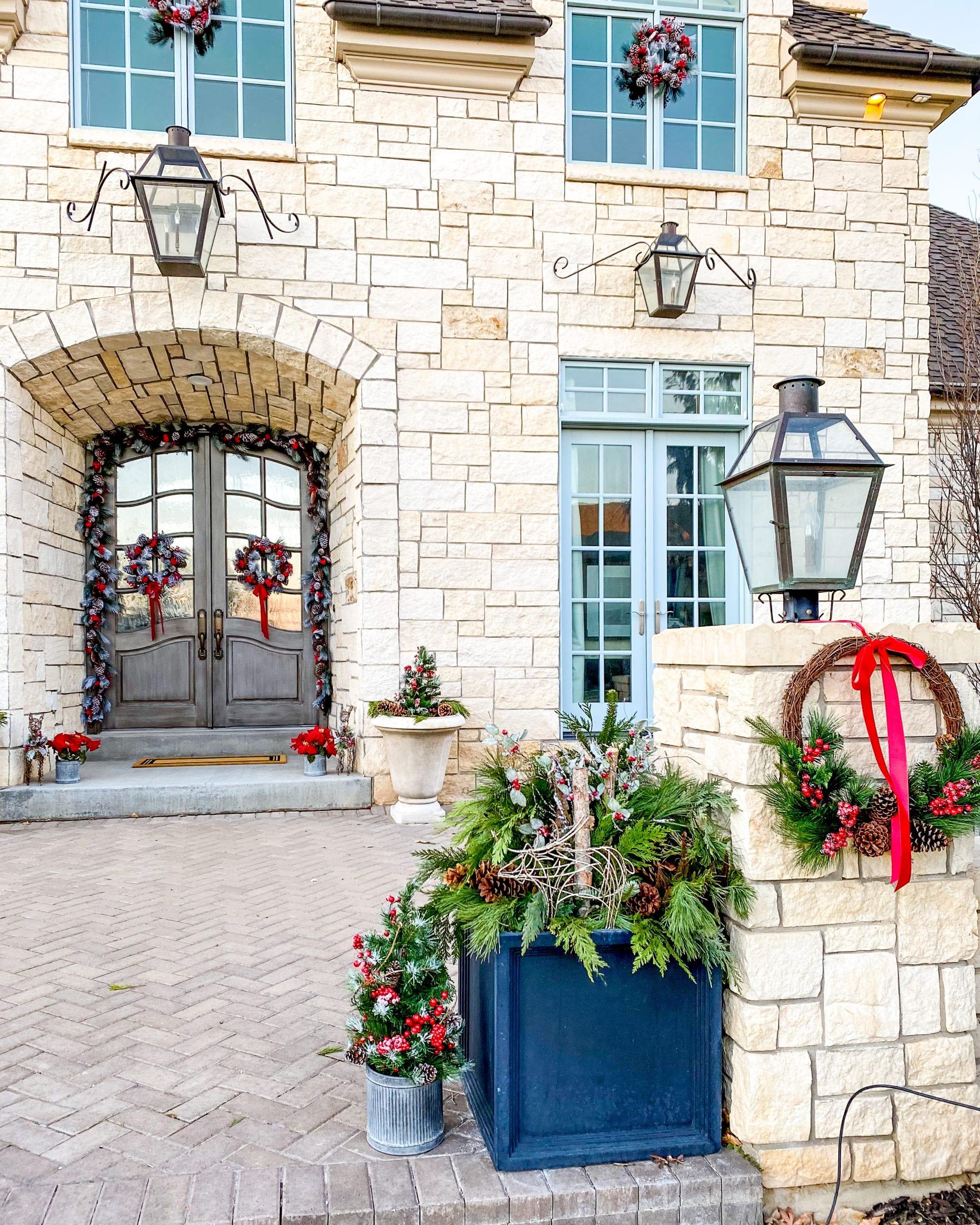 front porch christmas decor diy ideas