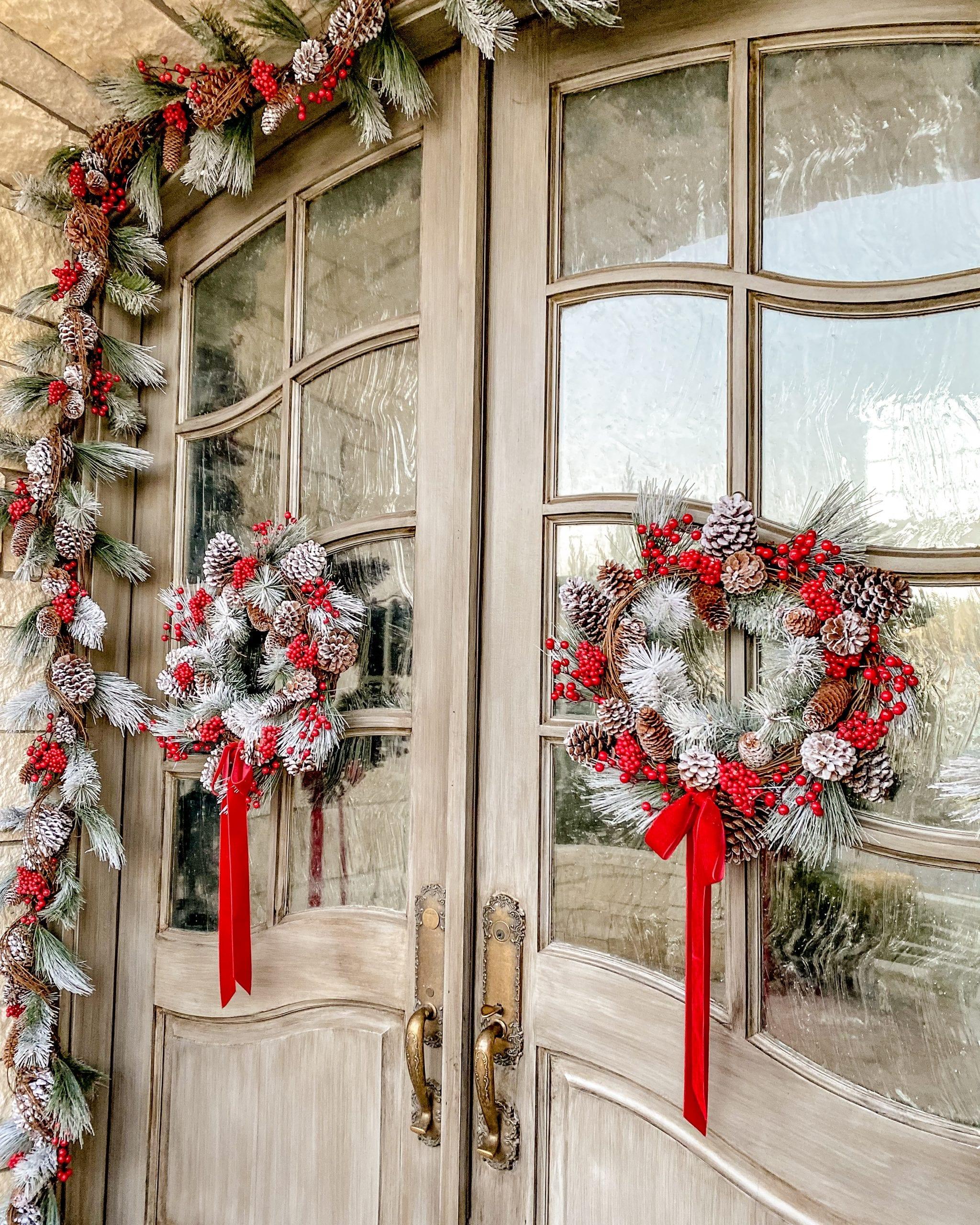 christmas wreath door decor