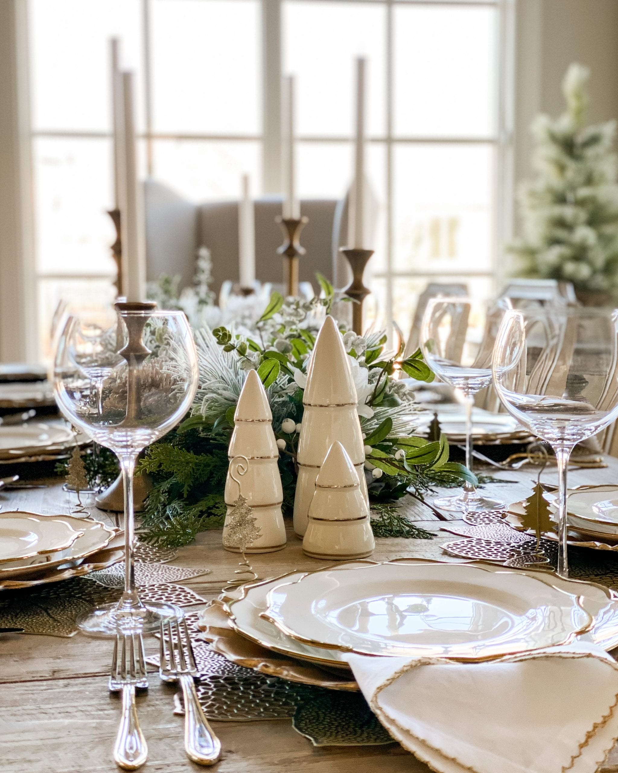 Christmas holiday tablescape ideas