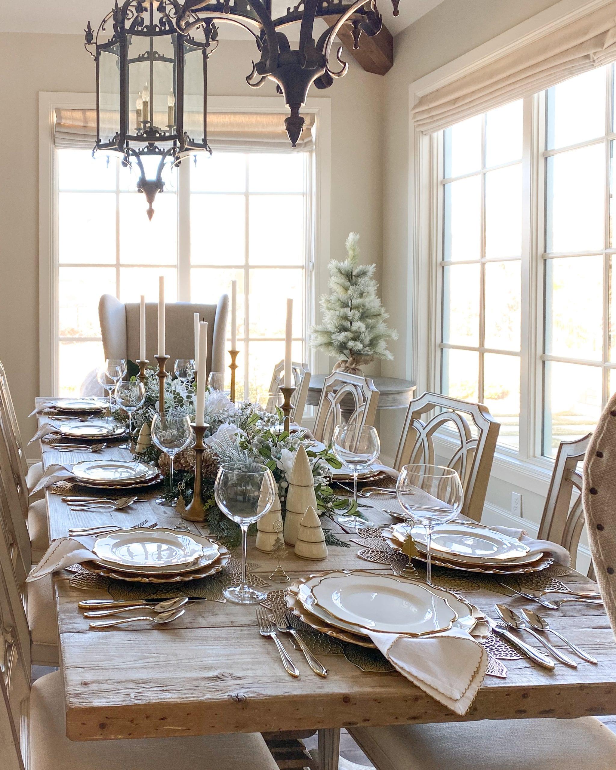 Lenox dinnerware table setting