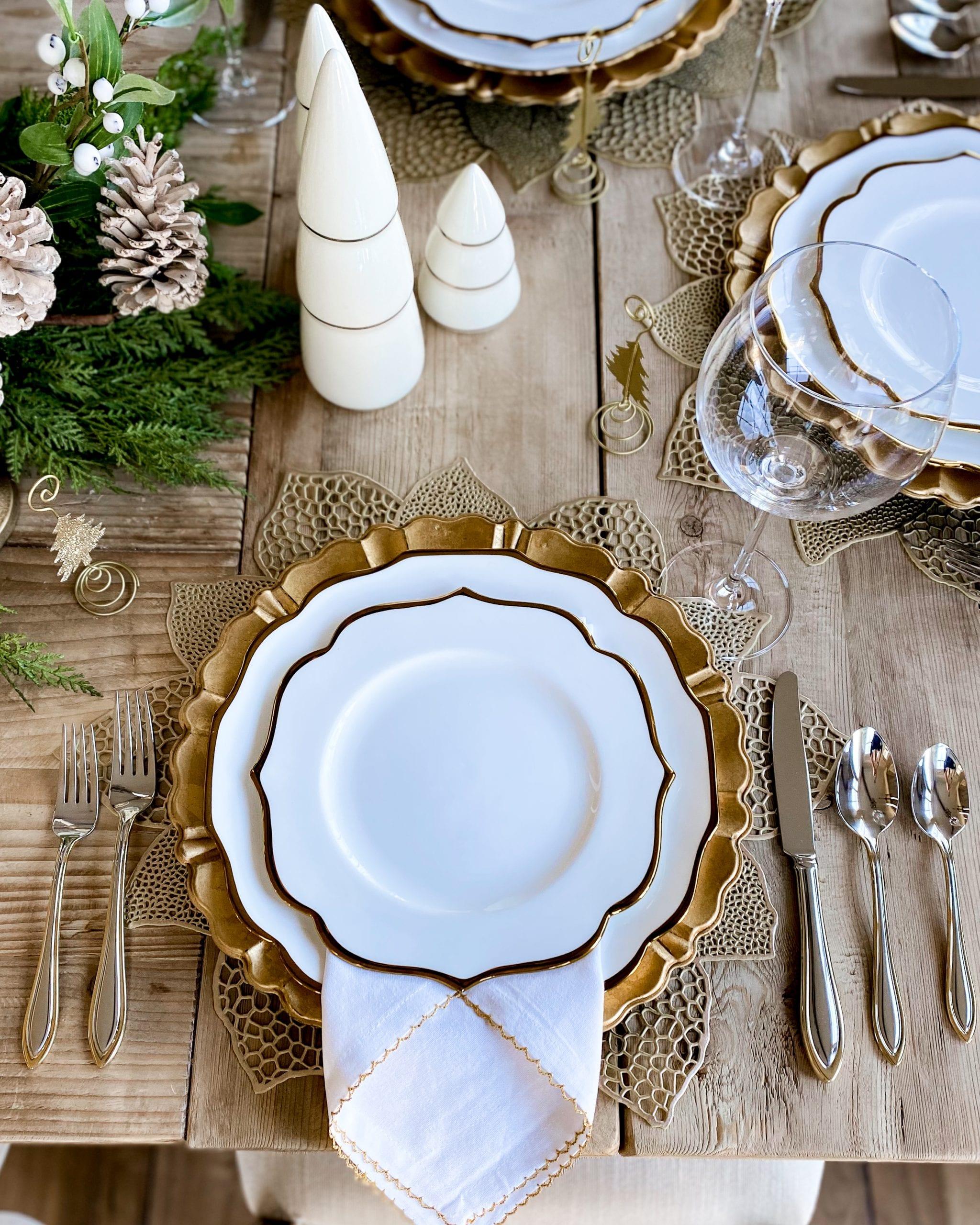 gold and white dinnerware contempo luxe dinnerware Lenox