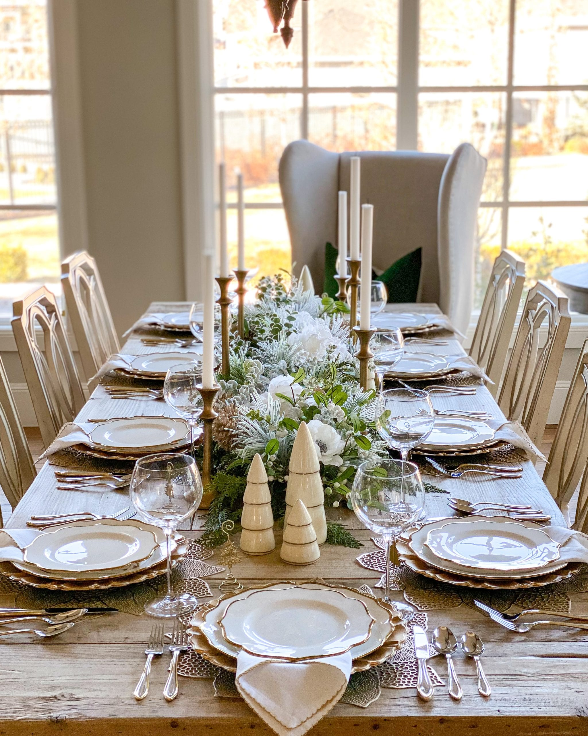 Lenox christmas table setting