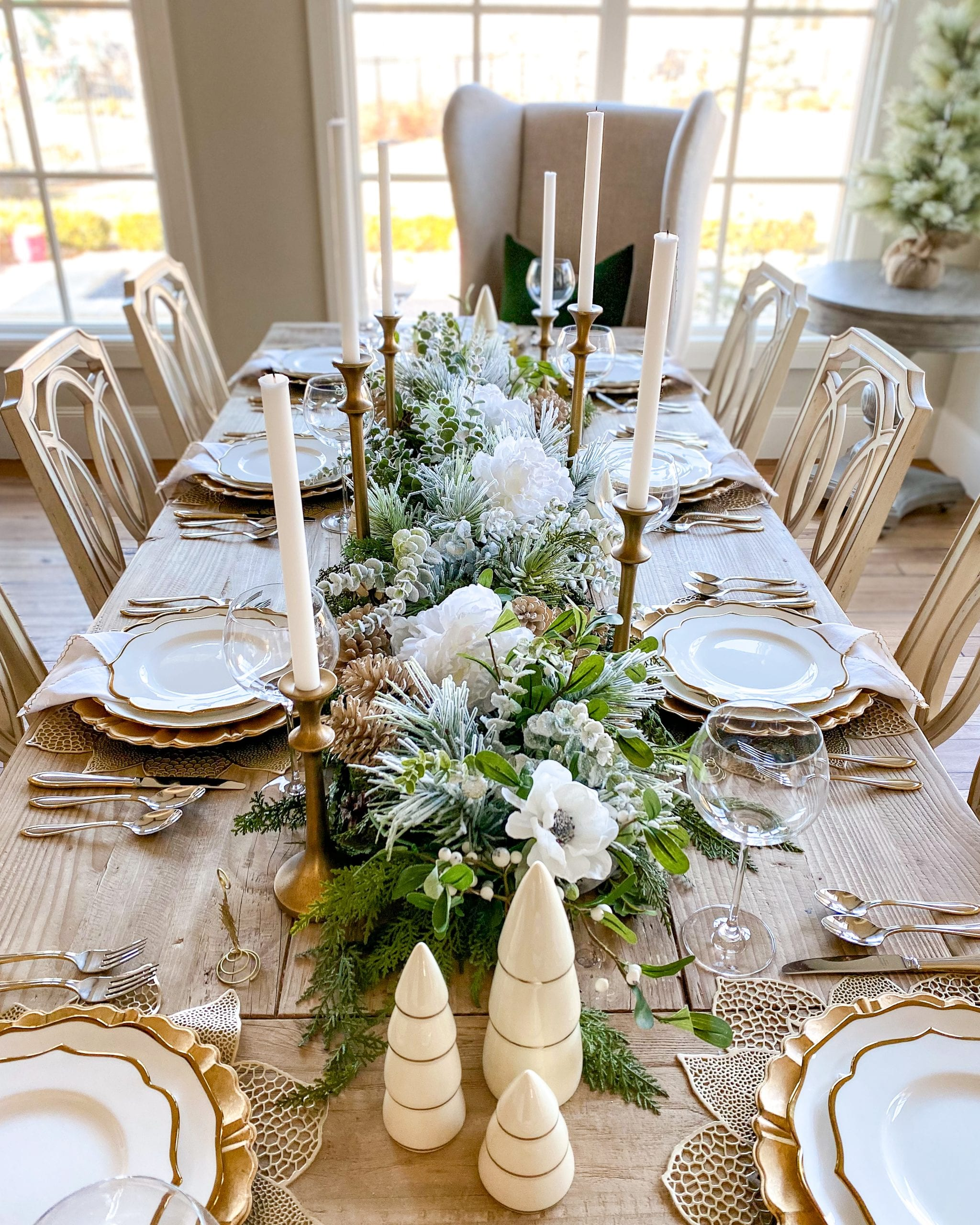 christmas winter holiday tablescape
