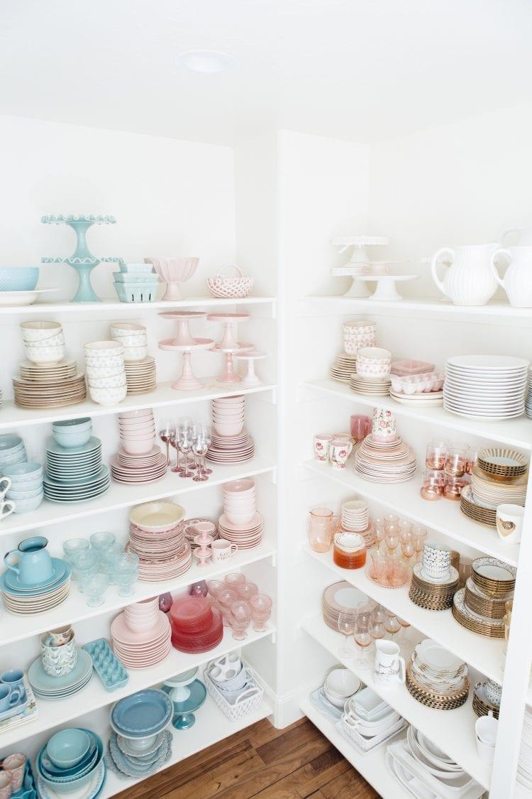 pantry dish storage and organization