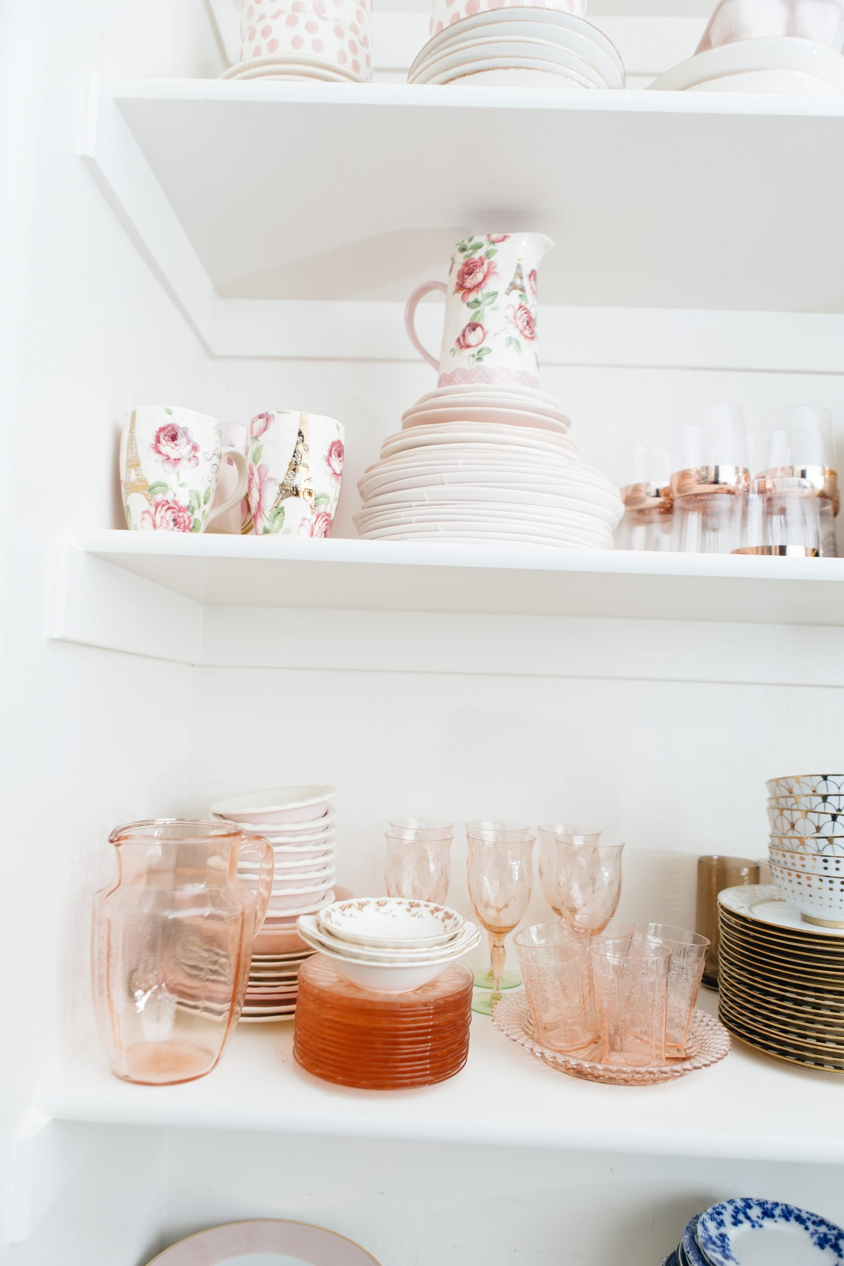 Pink Dishes depression glass