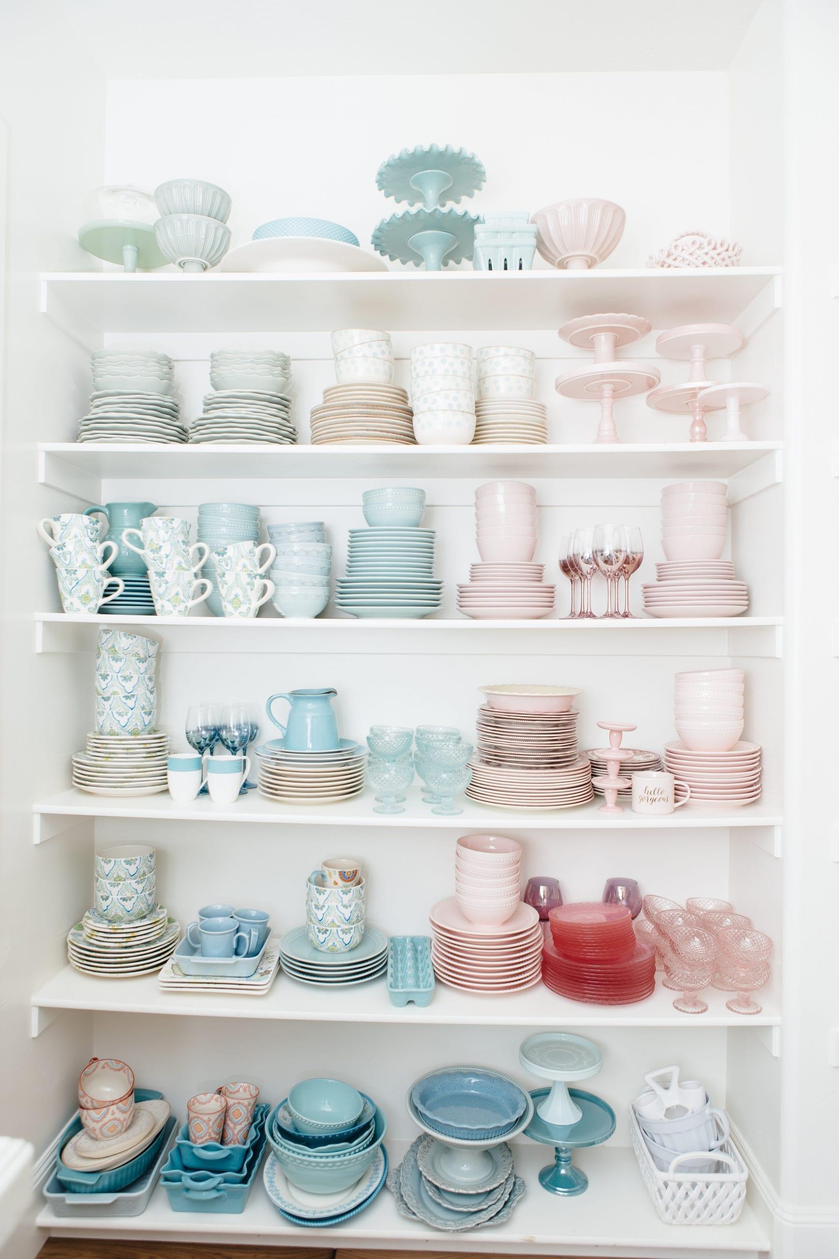 pretty dish storage ideas