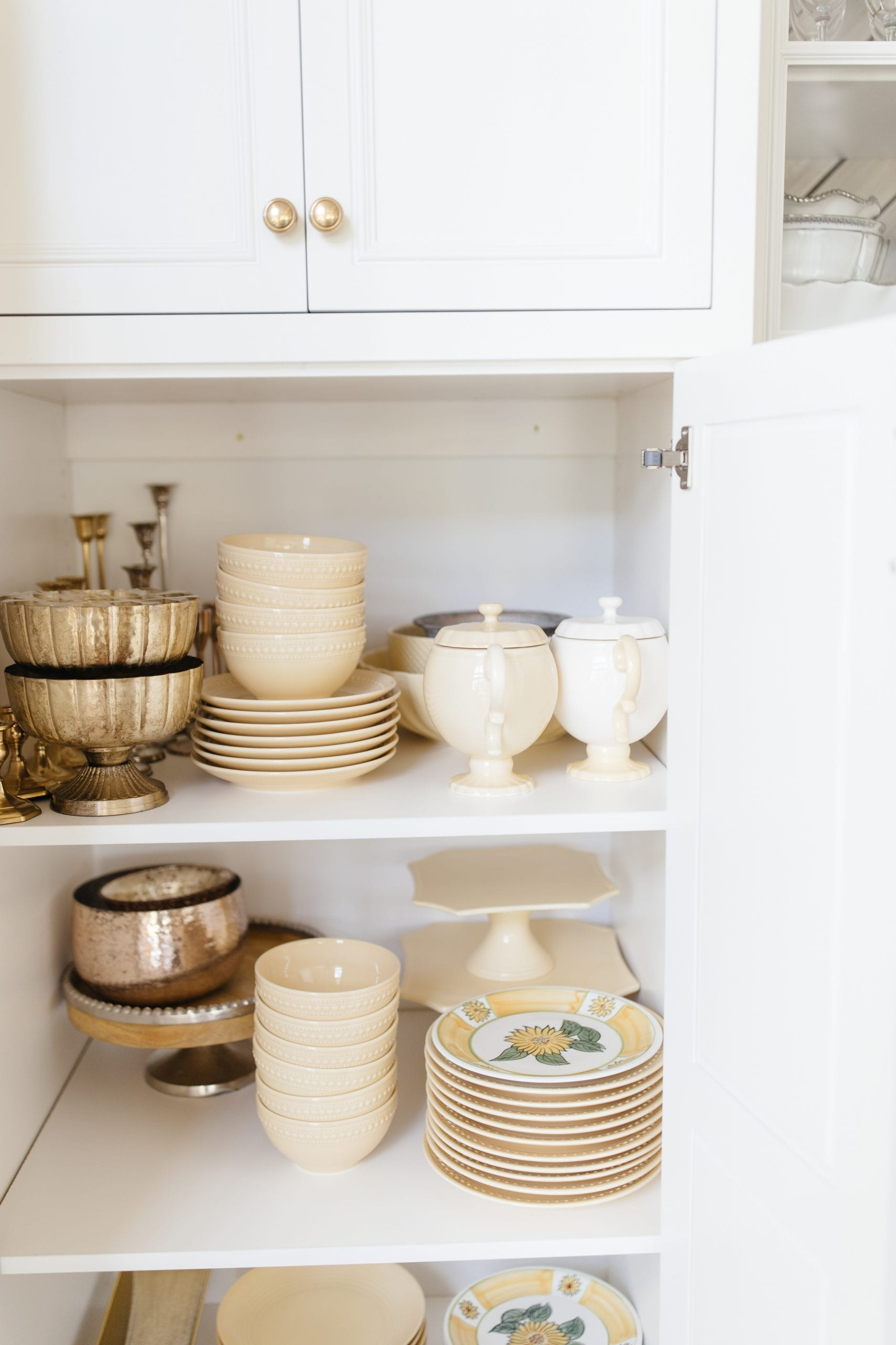 yellow dish collection storage