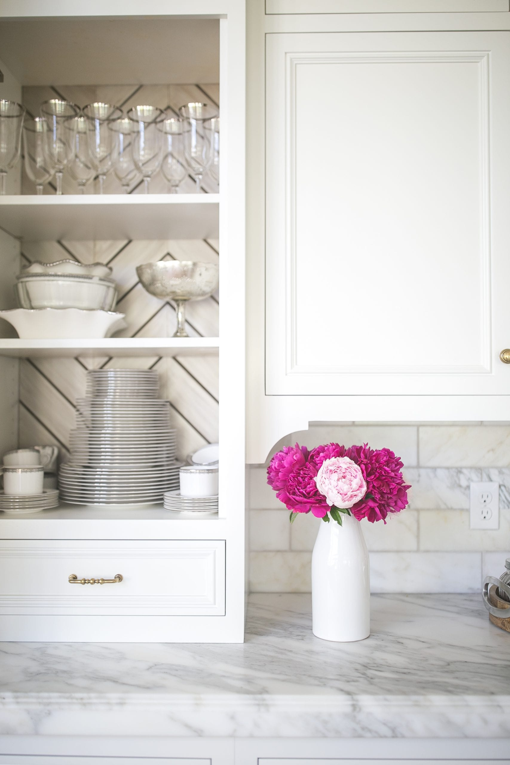 kitchen built in china cabinet