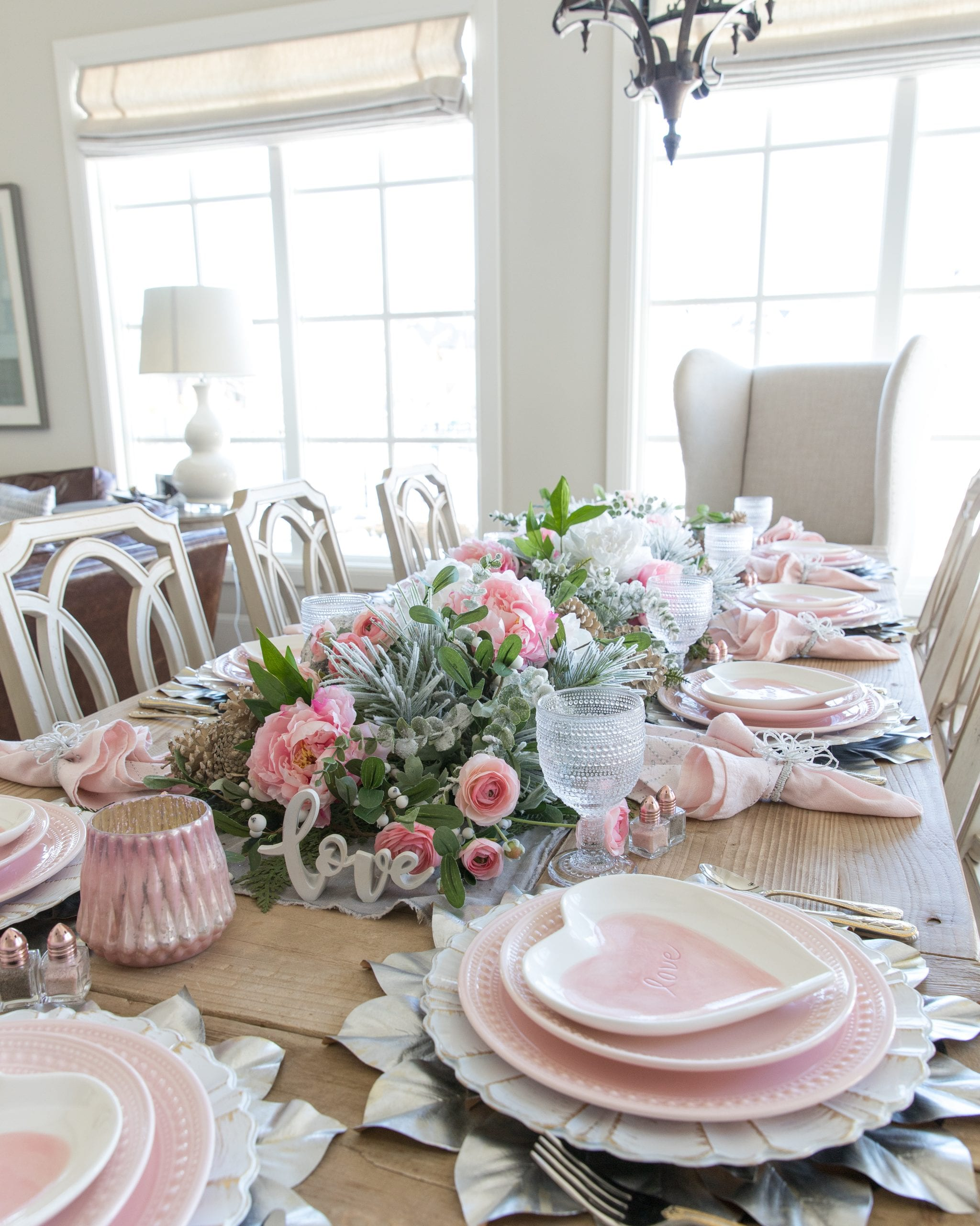 pink heart dishes