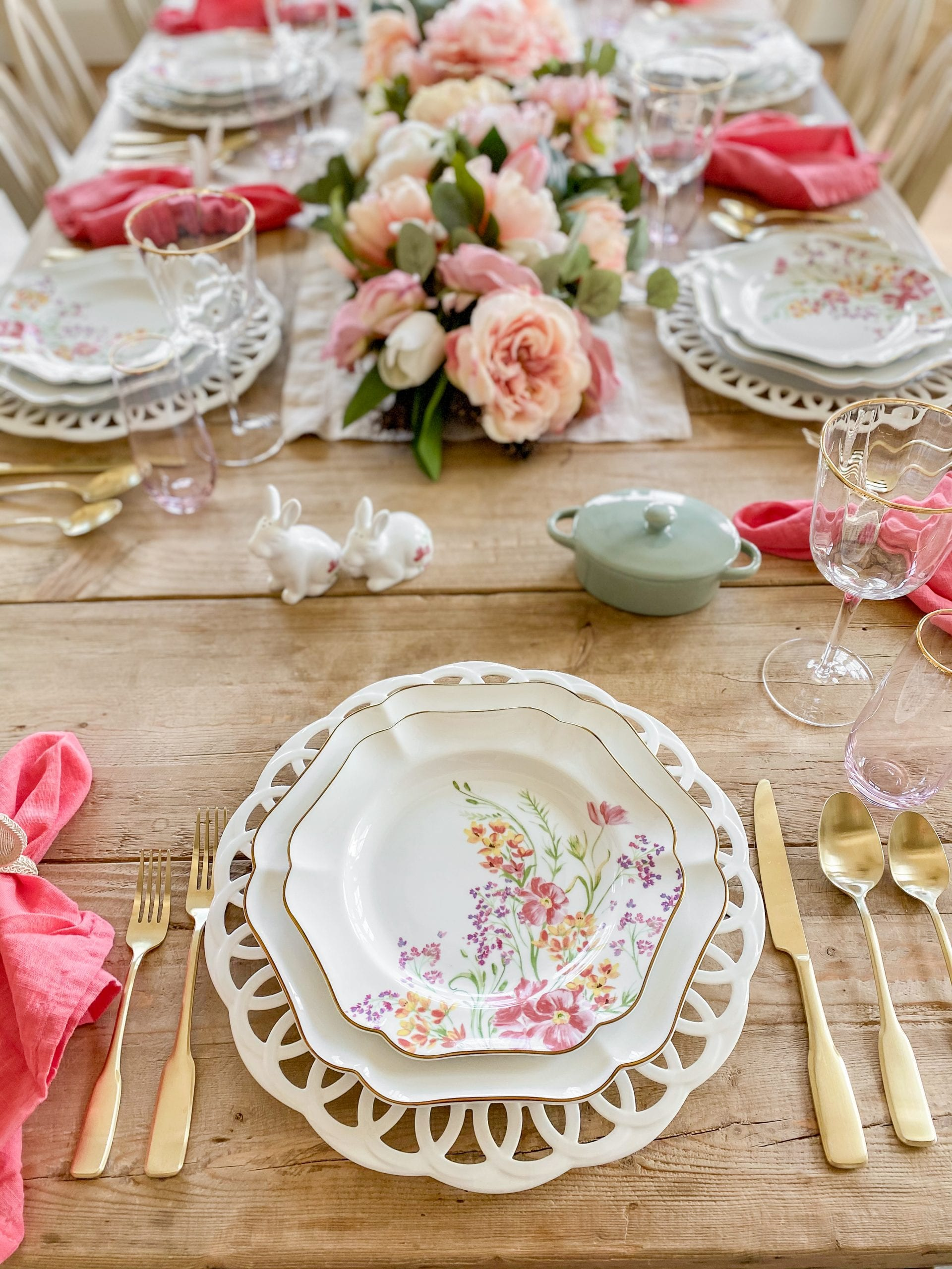 floral plates Martha Stewart Collection spring easter