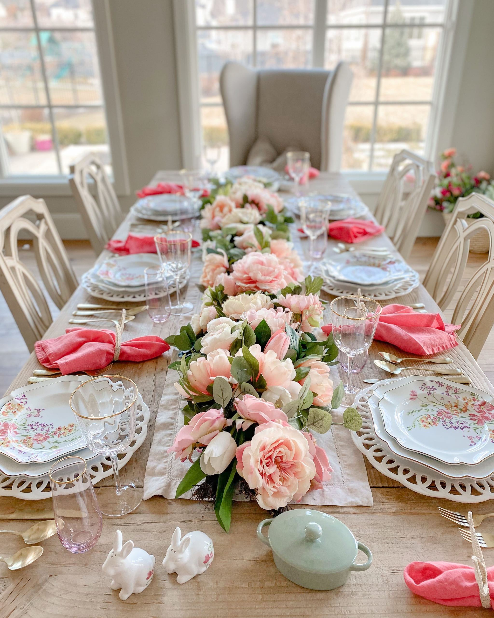 Martha Stewart tablescape for easter and spring