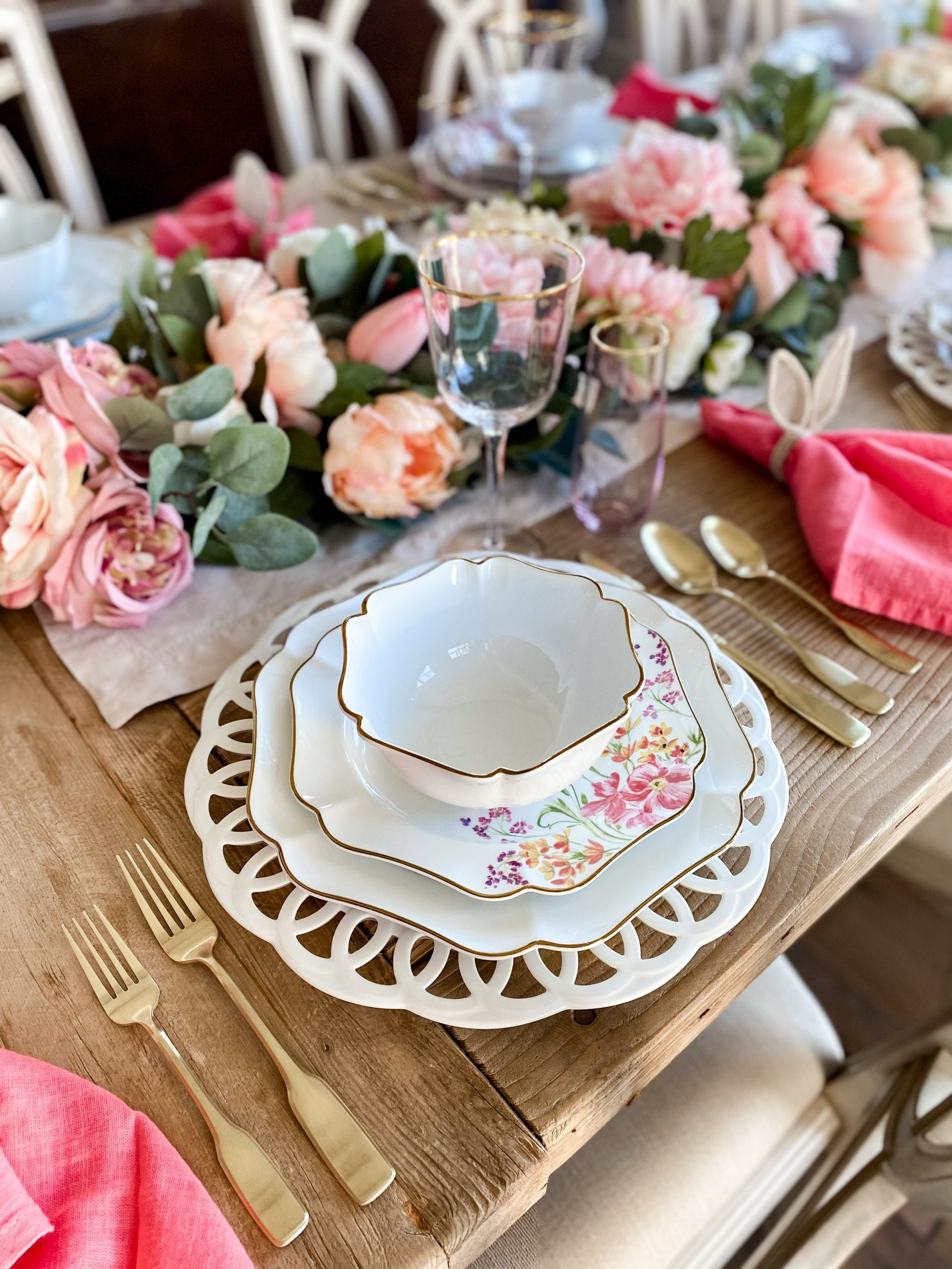 place-setting tablescape easter spring