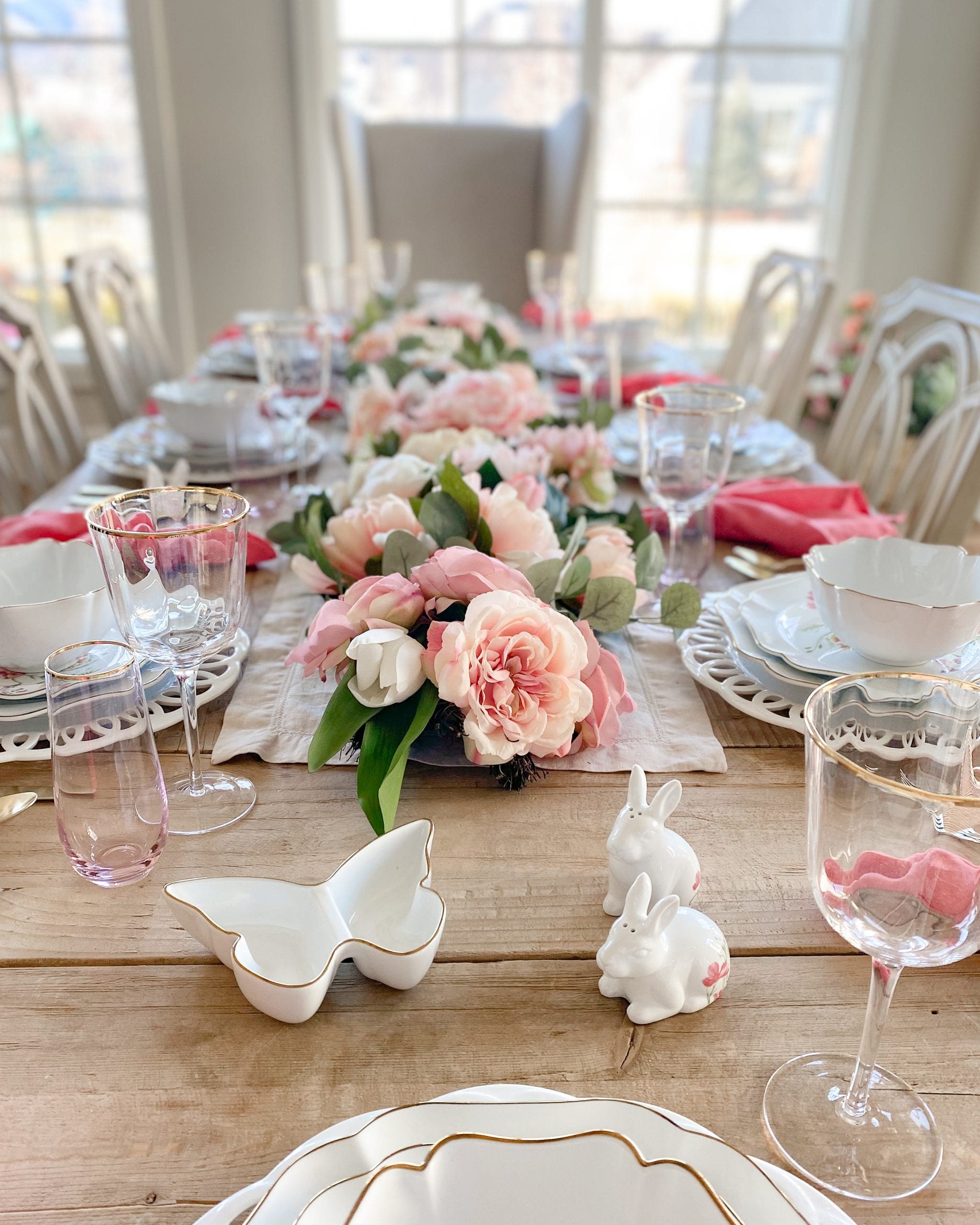 easter themed tablescape