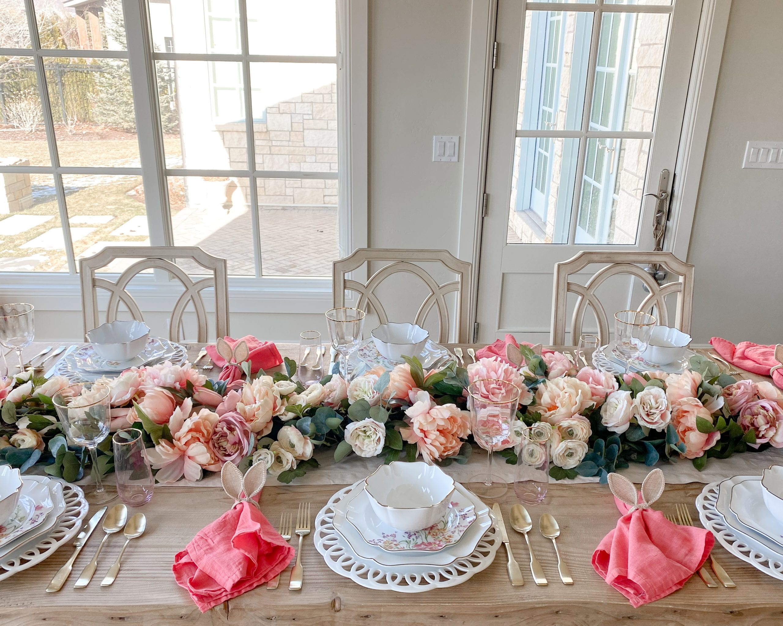 table setting ideas easter spring