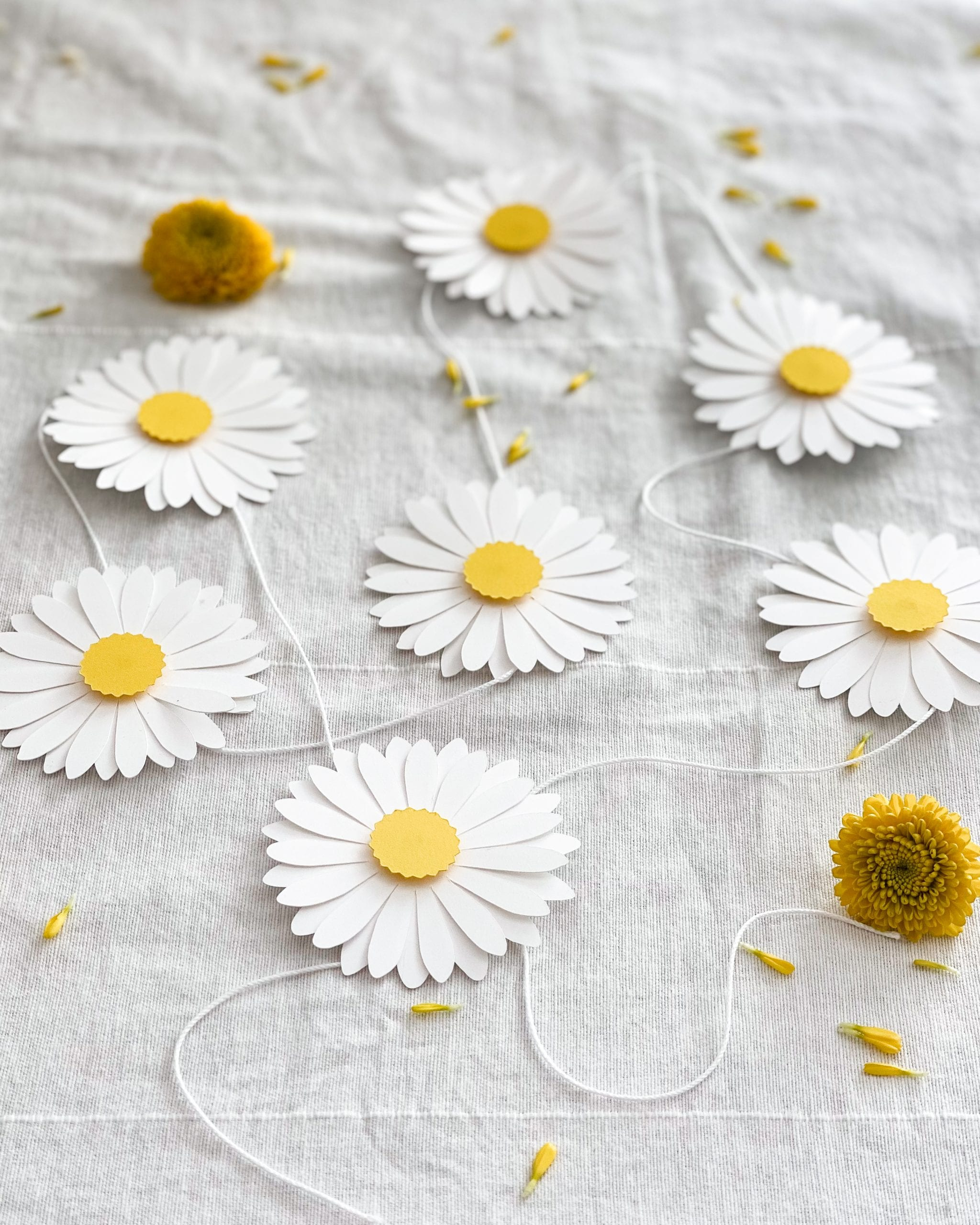 paper daisy flower decorations