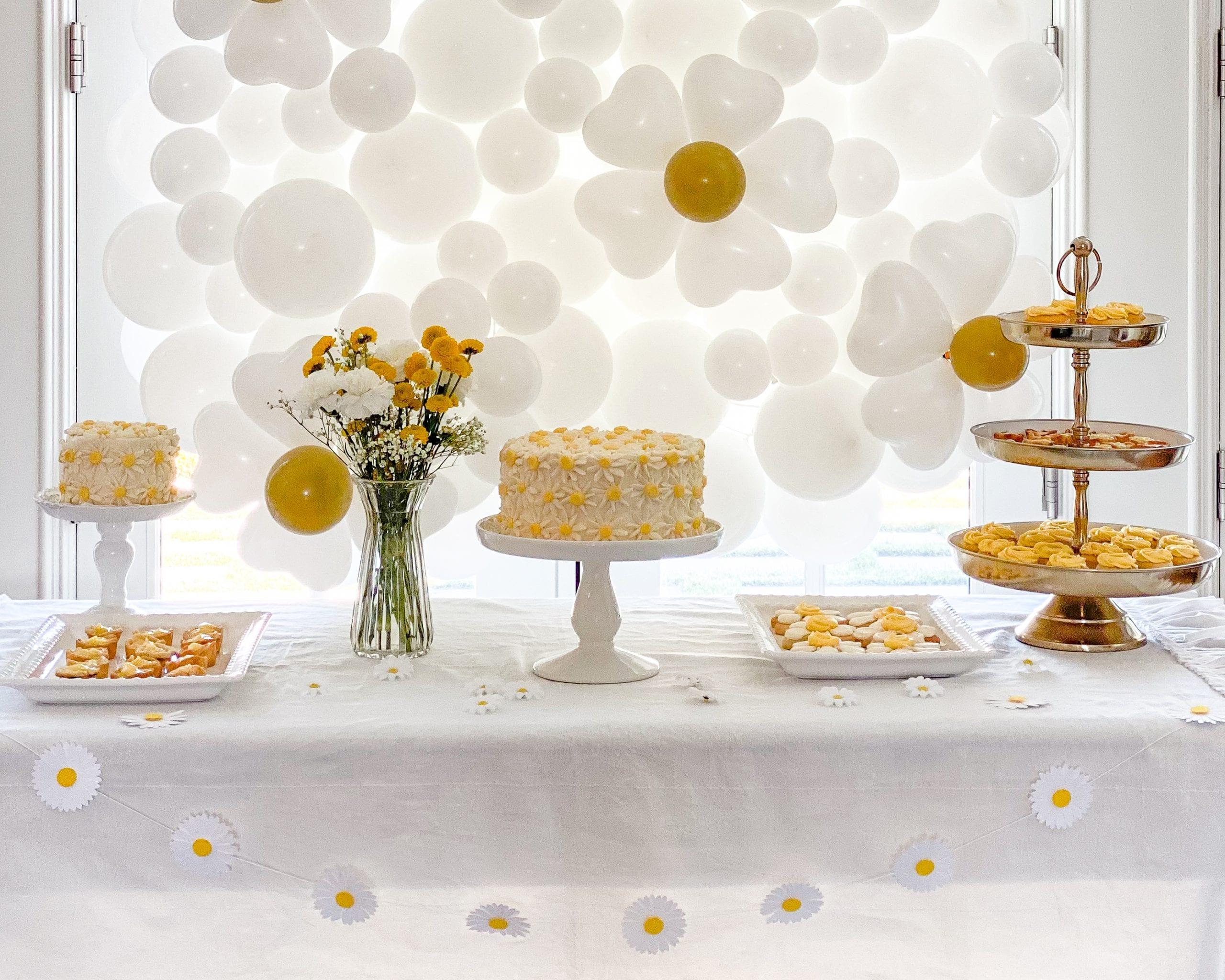 daisy garland daisy cake