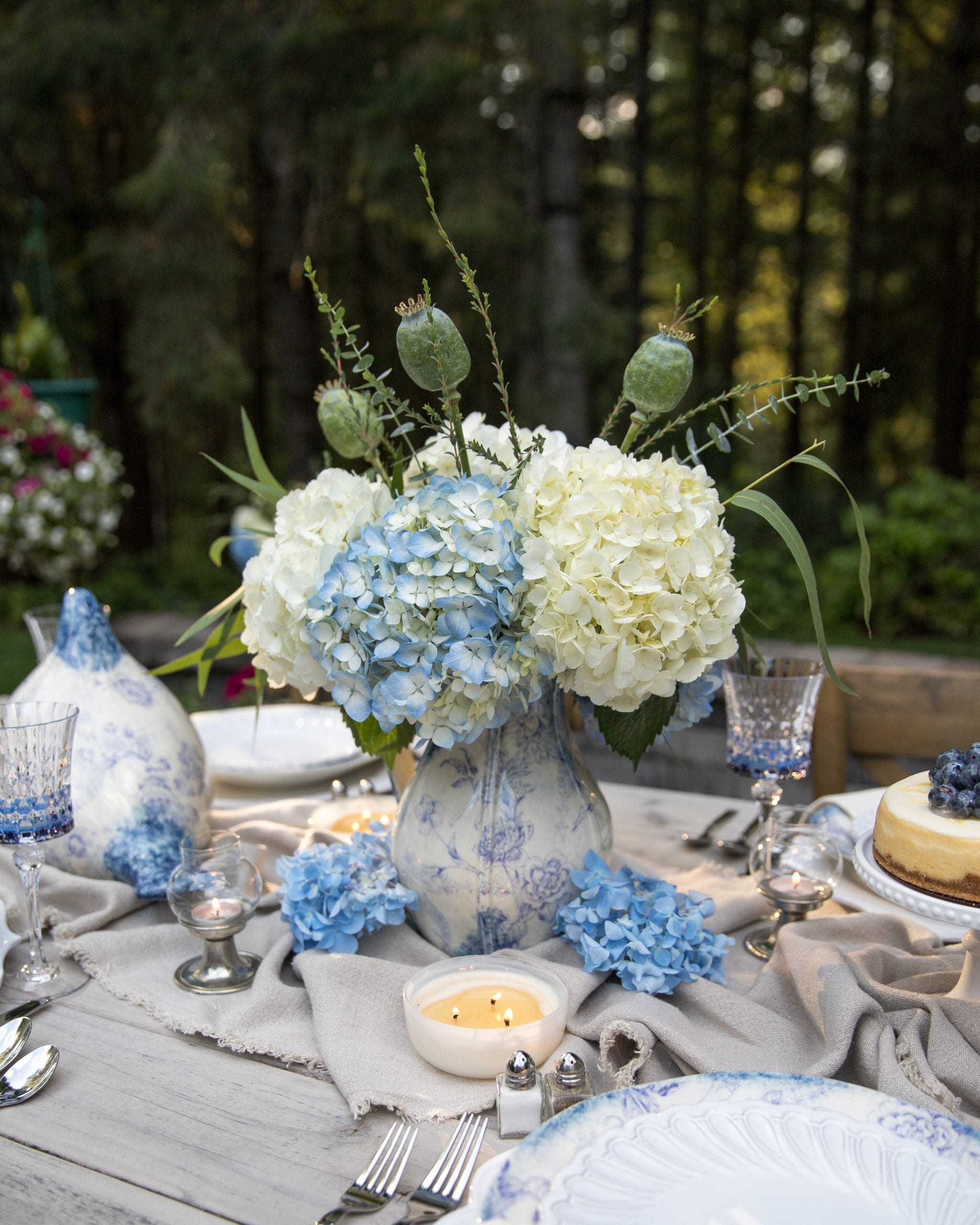 dinner table centerpieces