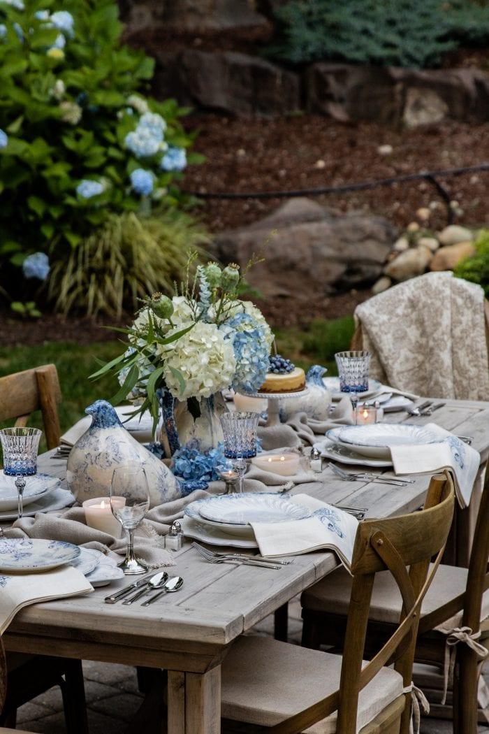 Outdoor Spring Table Decor