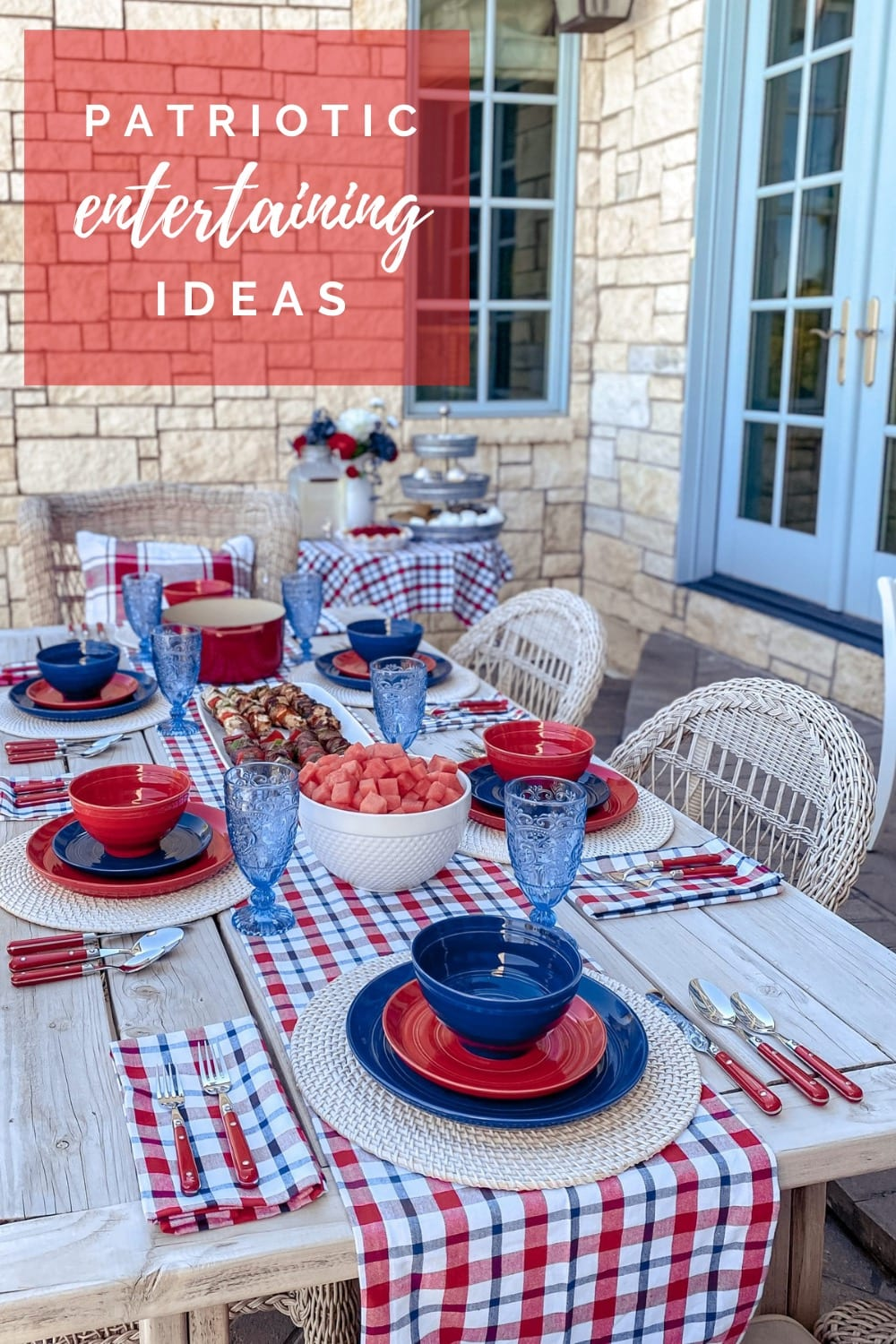 Fourth of July patriotic dining table