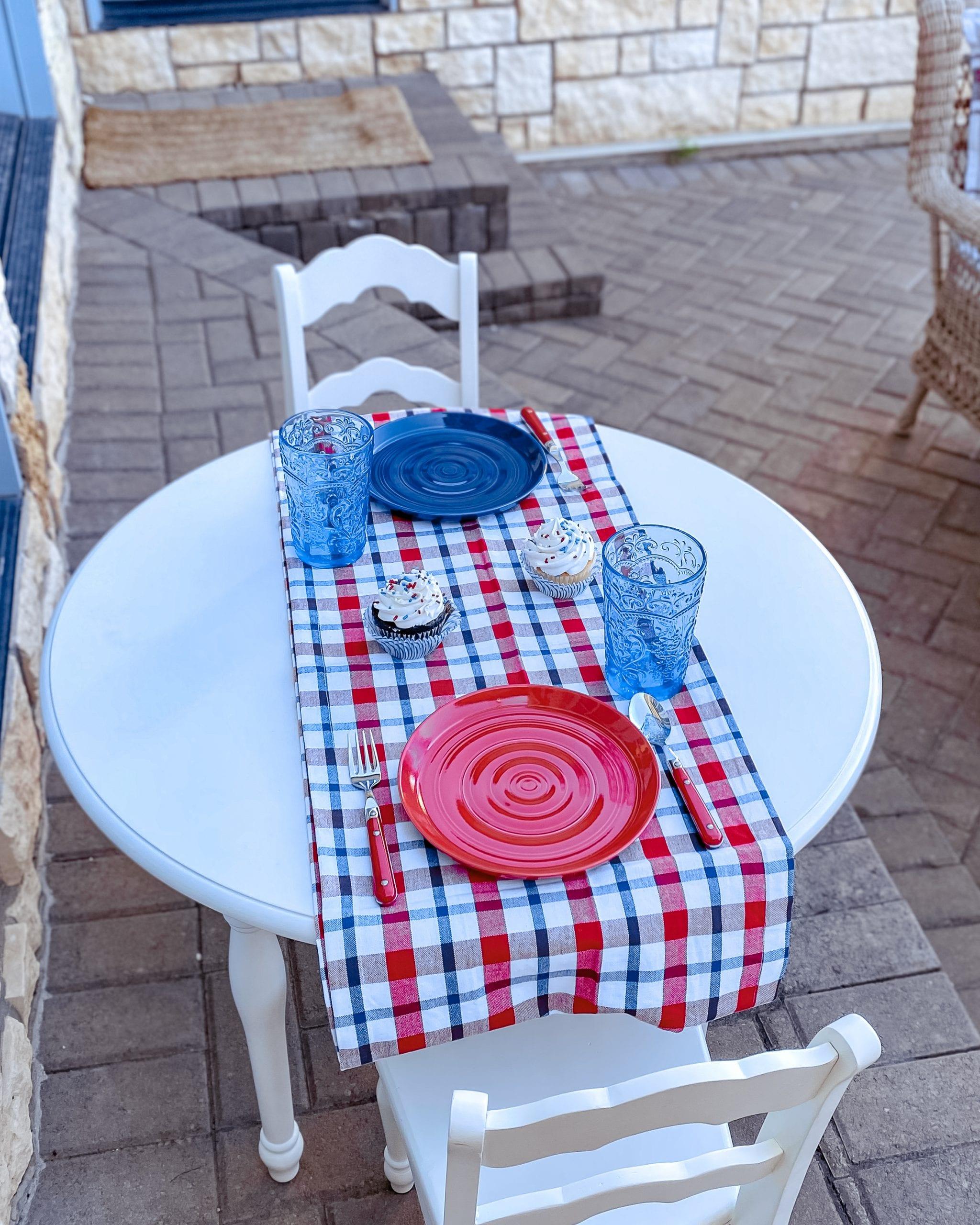 children's patriotic table