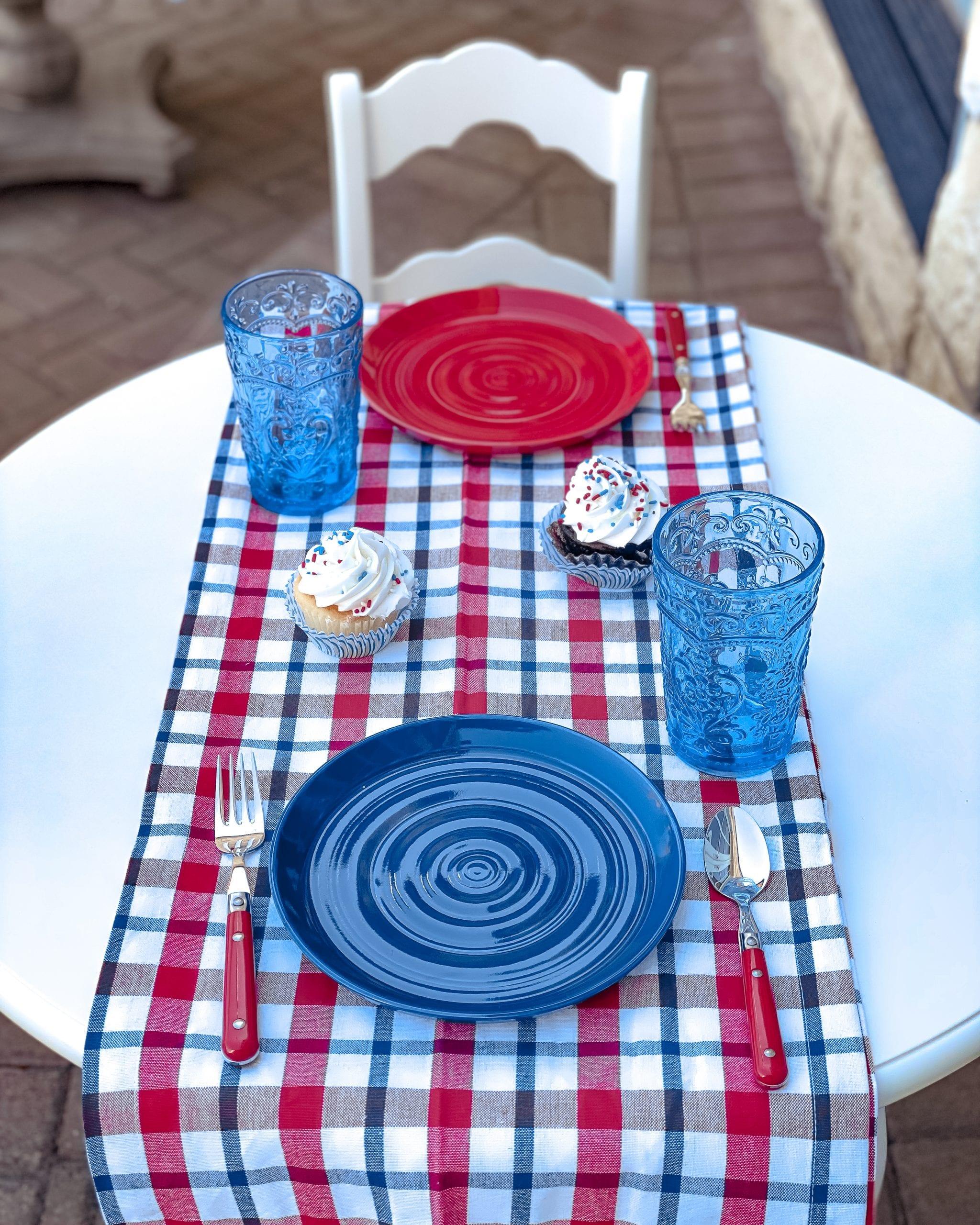 red white blue children's table