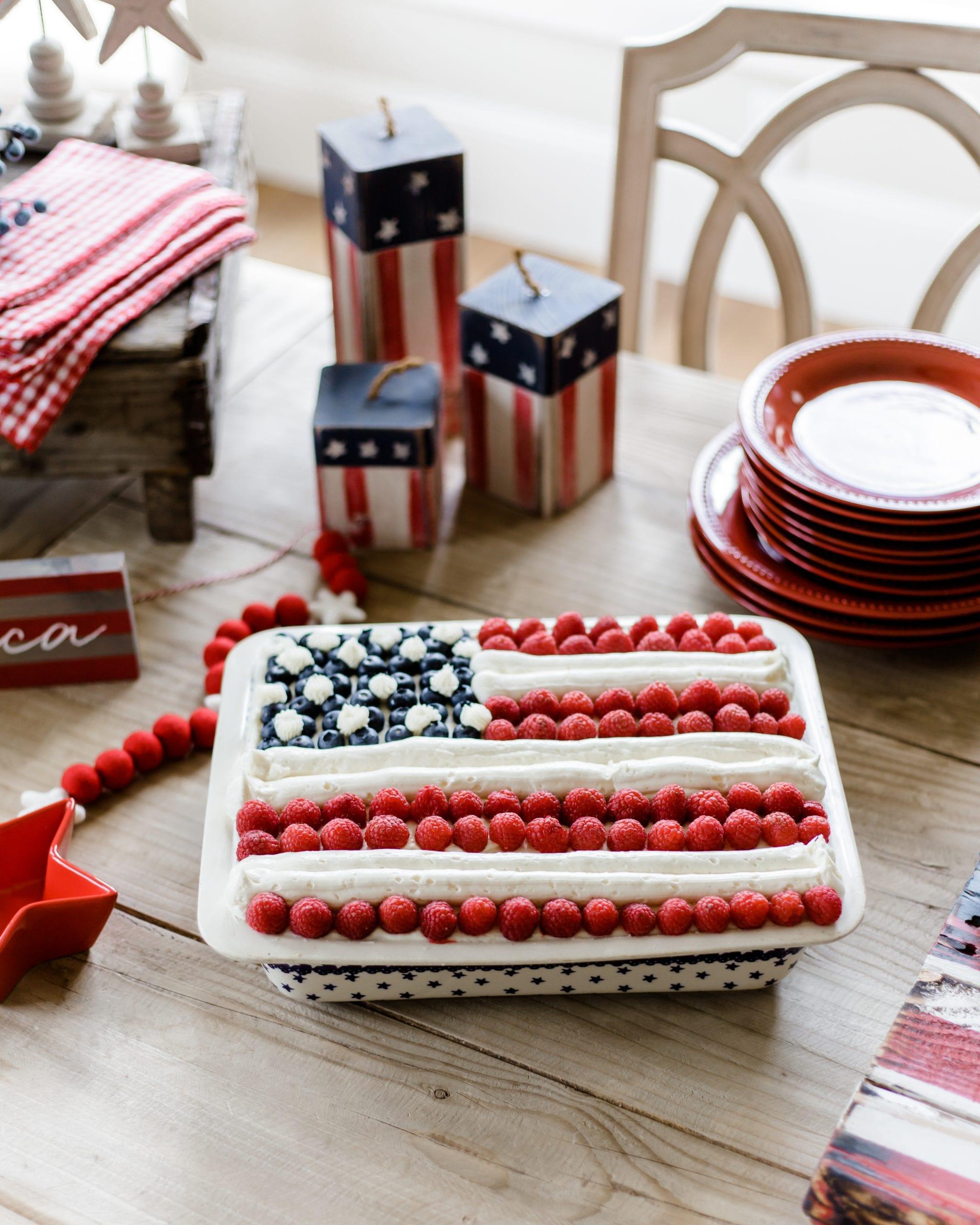 flag cake decorating