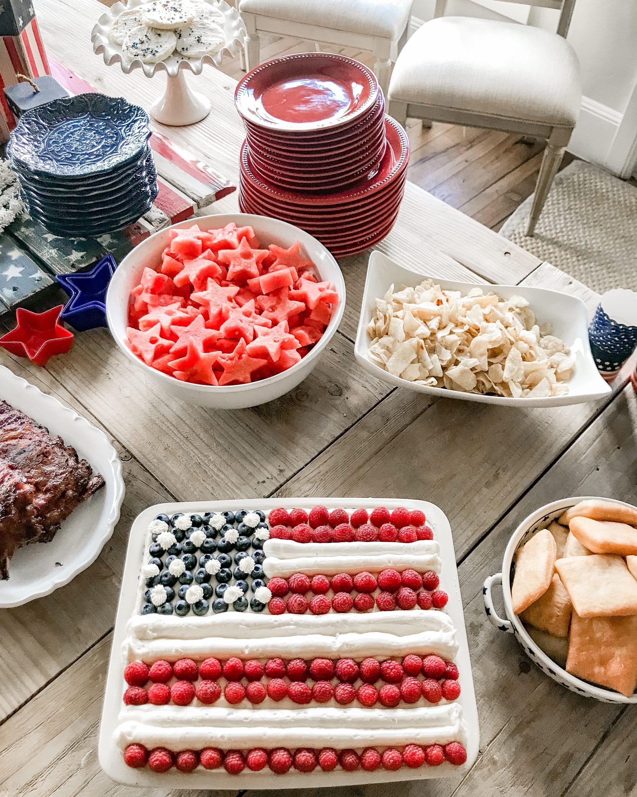 United States flag cake