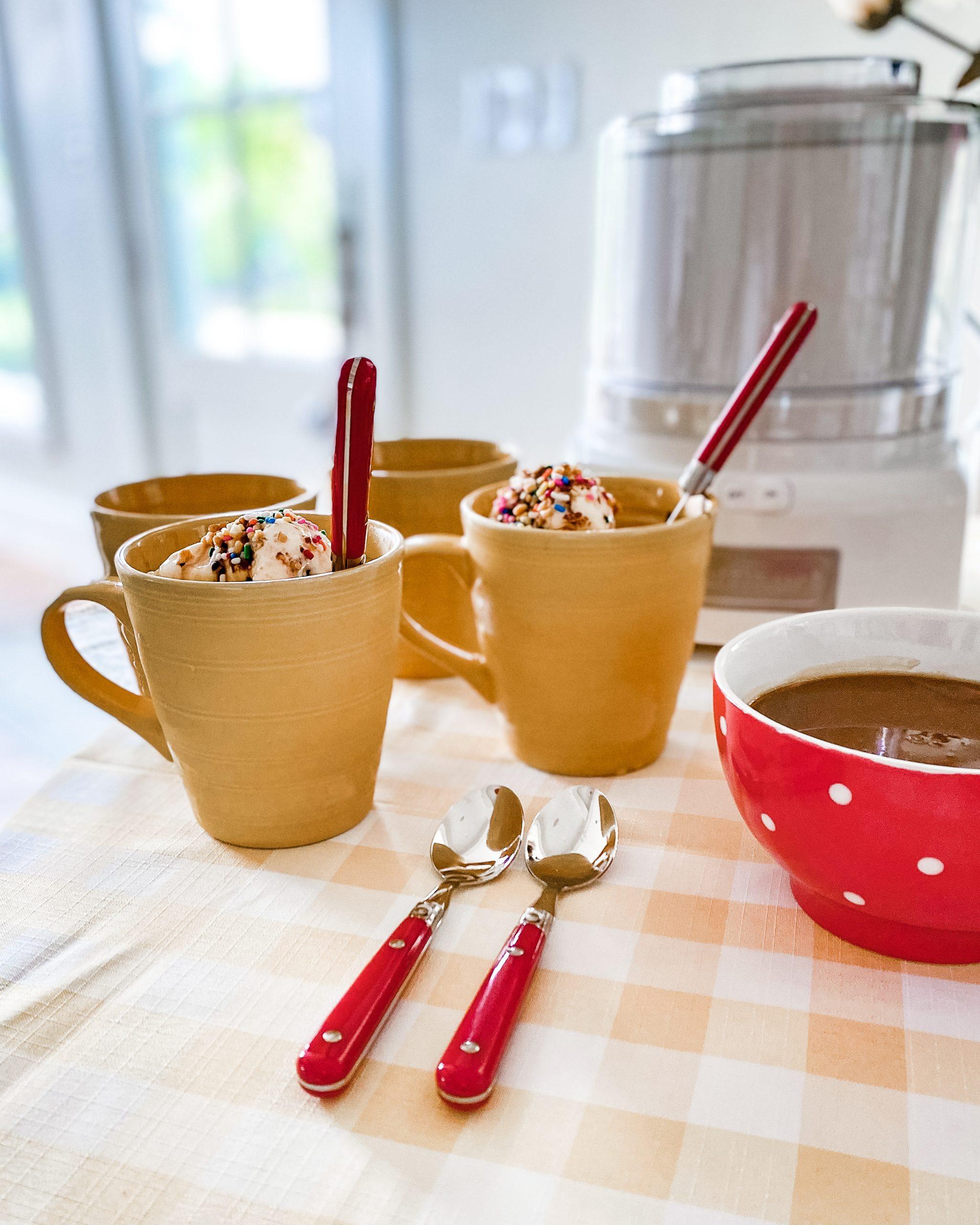 homemade ice cream sundaes