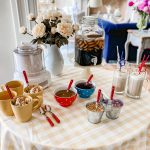 ice cream Sundaes, root beer floats, party themes party ideas
