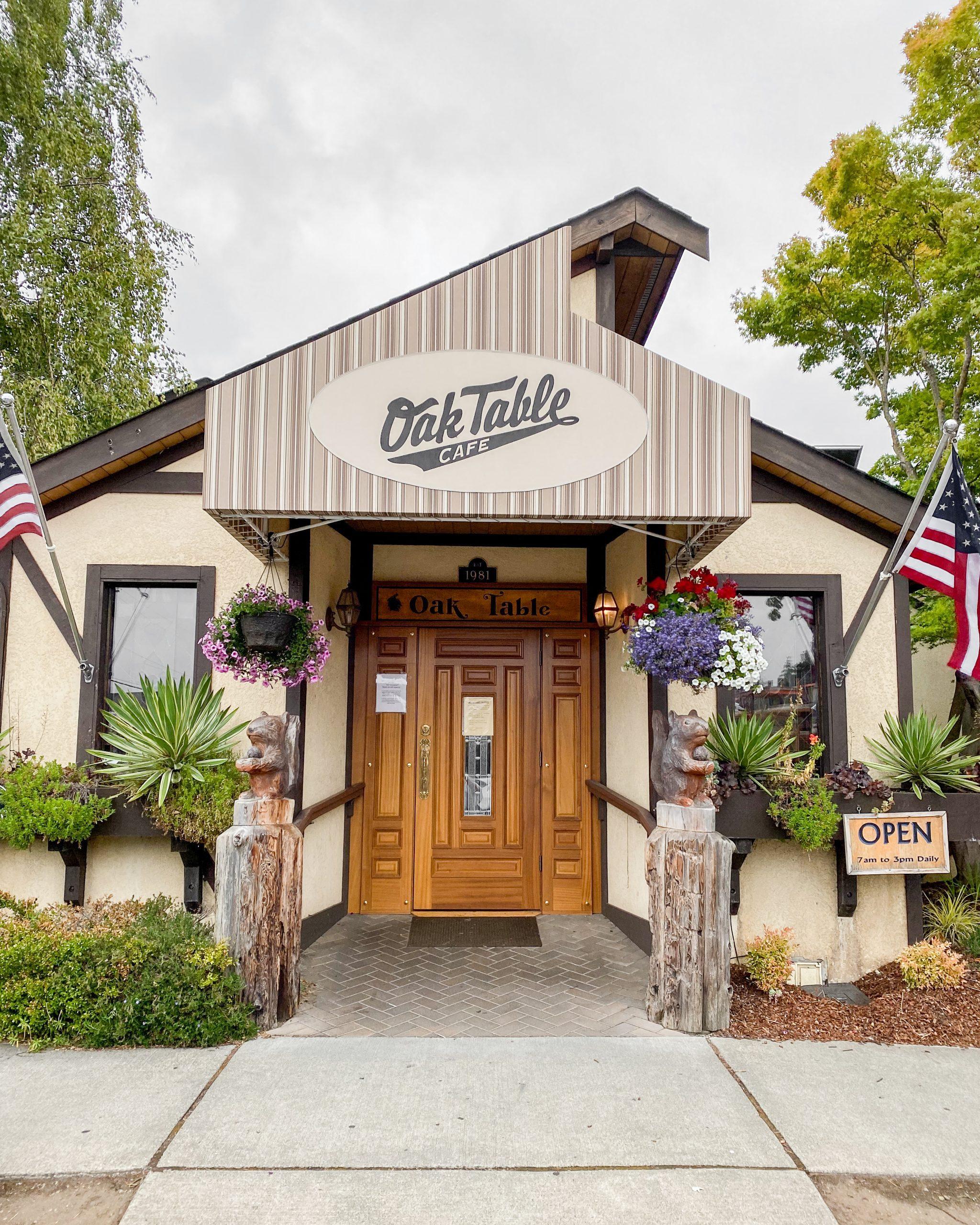 the oak table restaurant