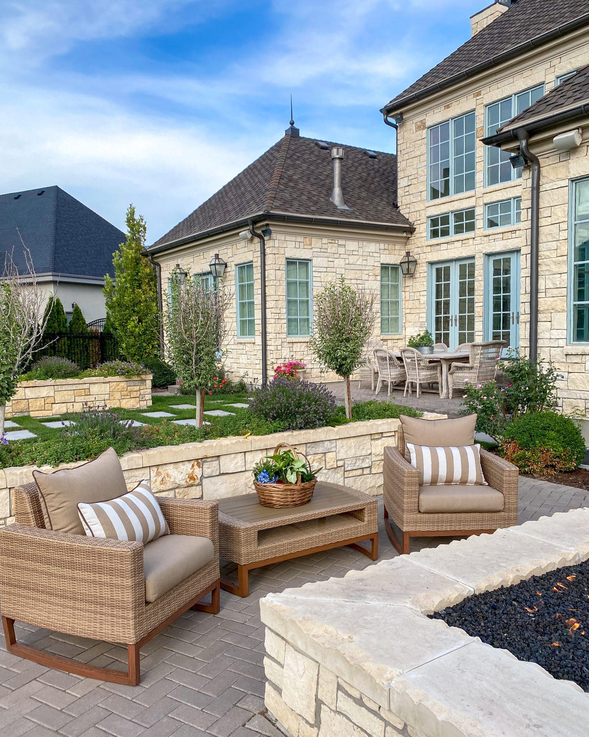 backyard design patio furniture