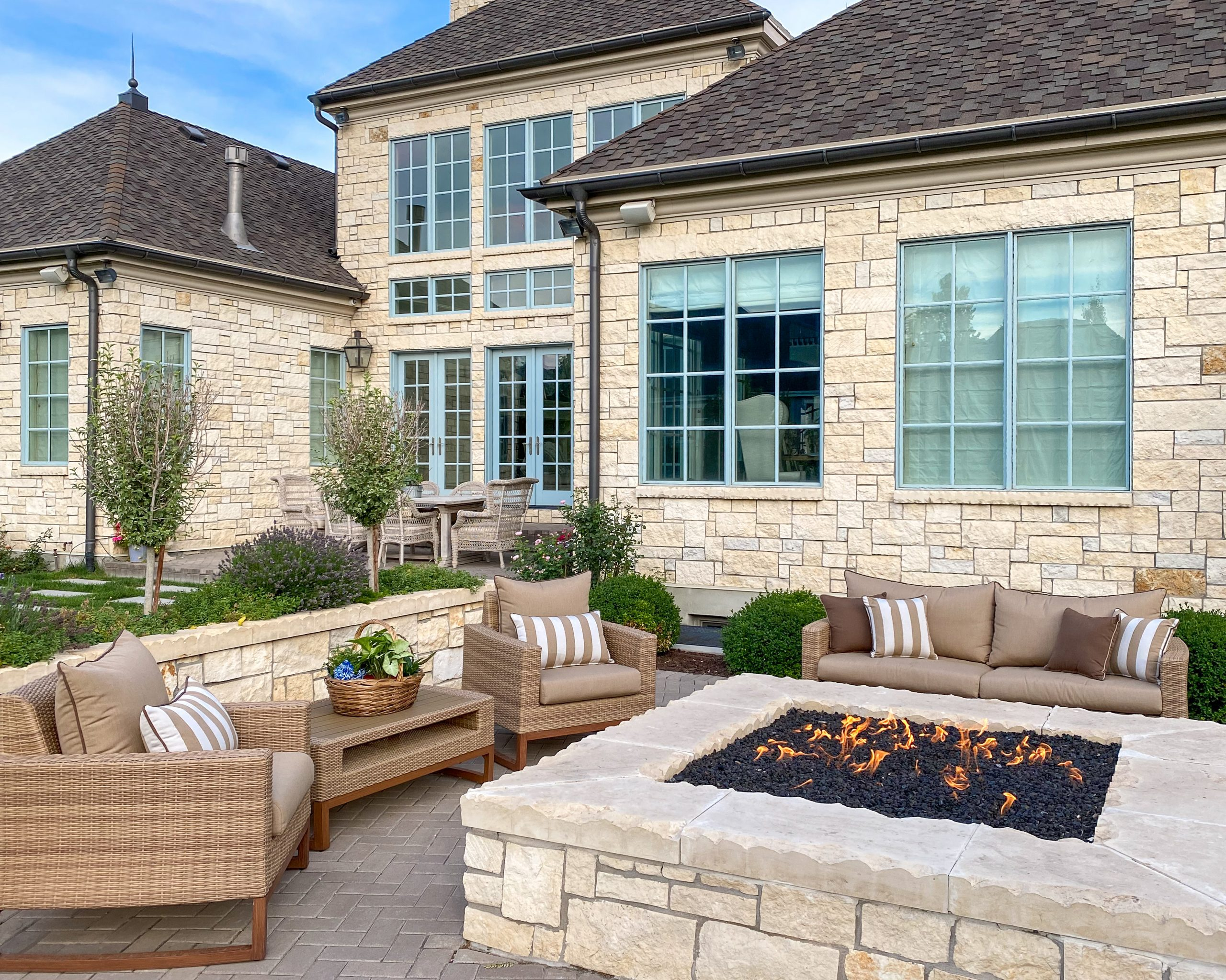 fire pit outdoor backyard space