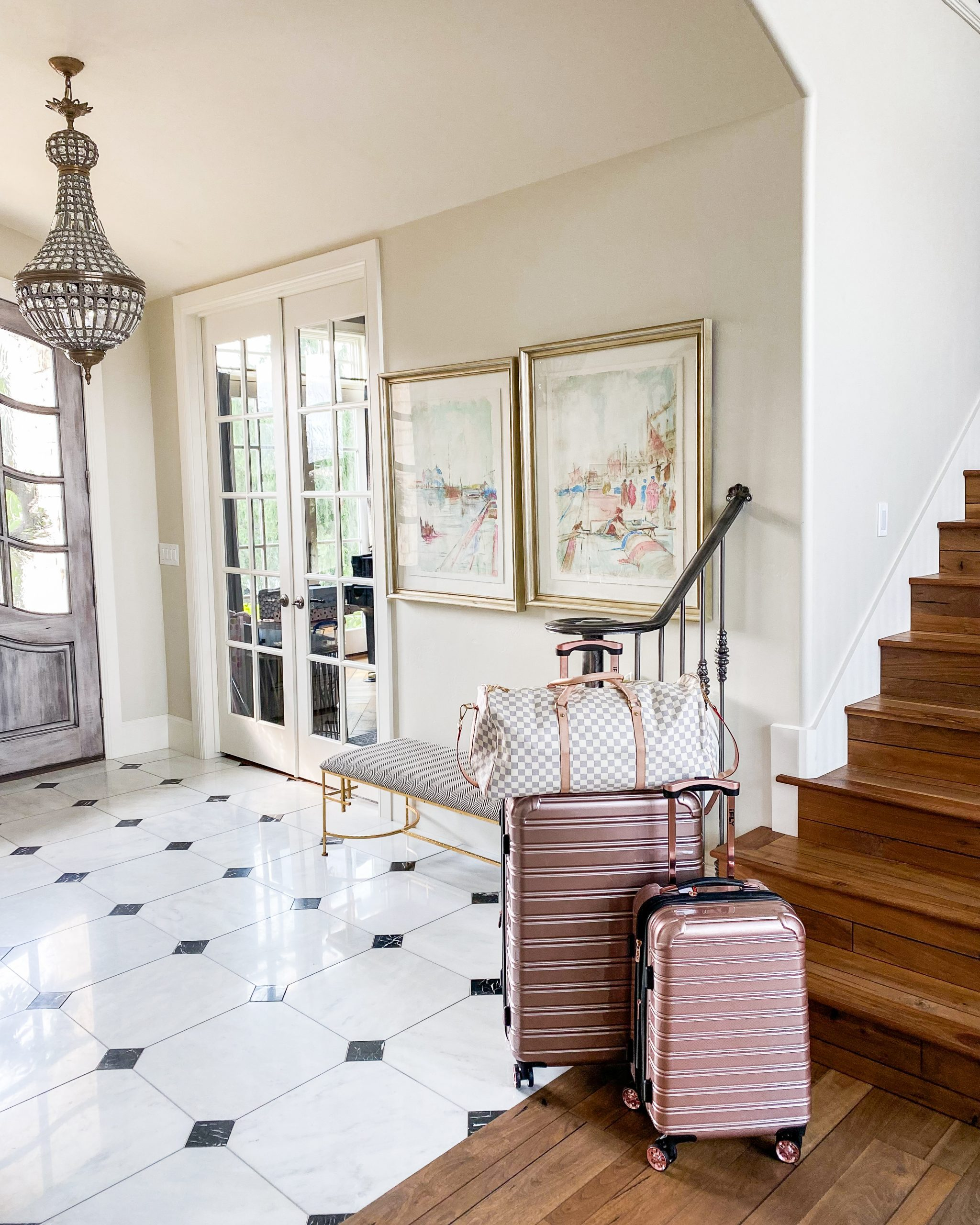 entry way luggage traveling