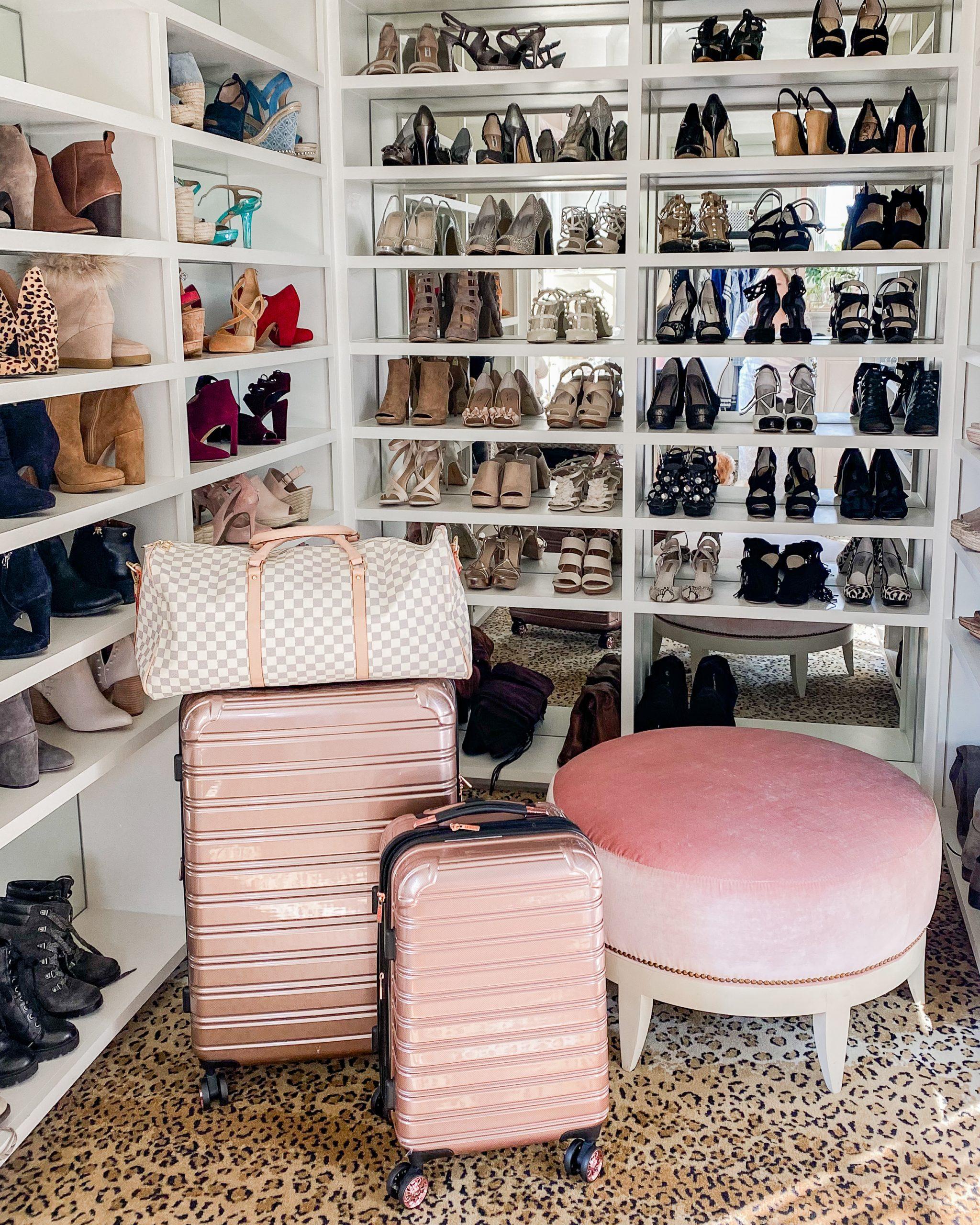 closet packing luggage